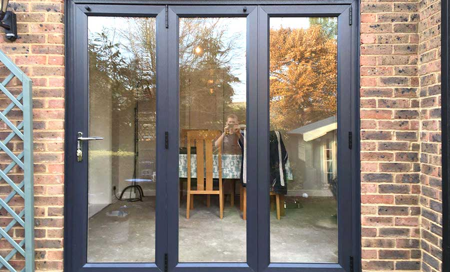 12ft White uPVC Bifold Folding Doors | Flying Doors