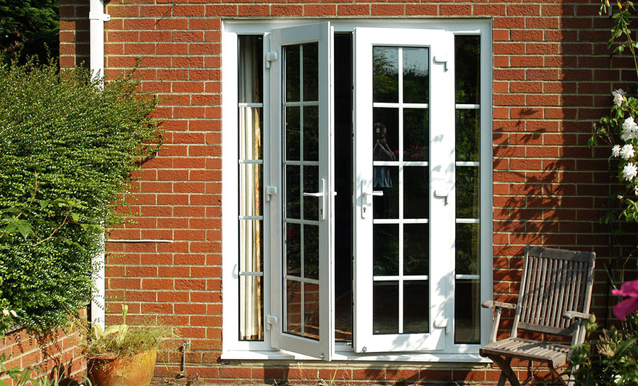 4ft anthracite grey upvc french doors flying doors for Upvc french doors used