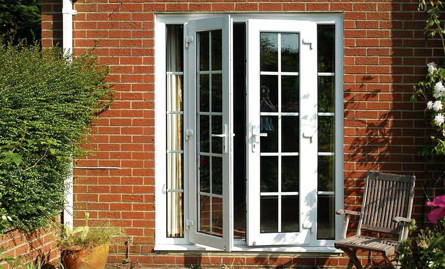 4ft anthracite grey upvc french doors flying doors for French doors uk