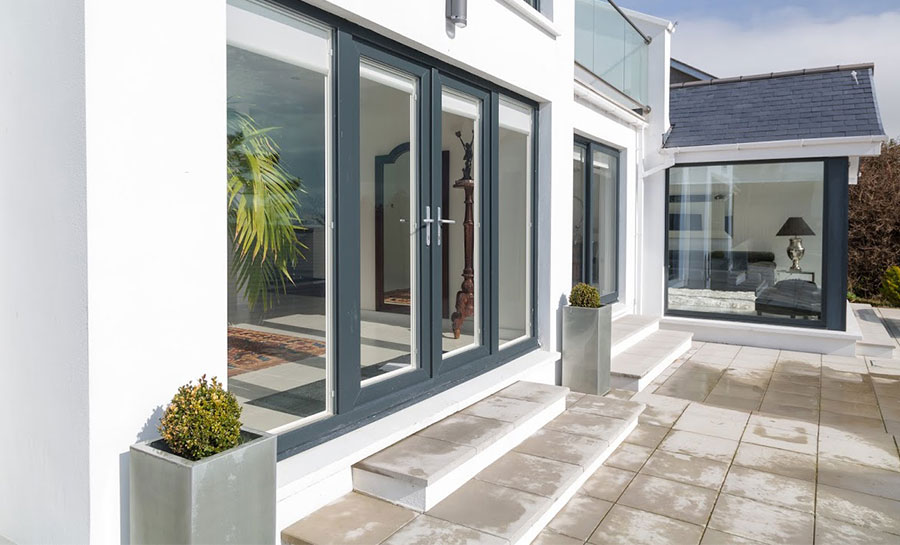 6ft Anthracite Grey Upvc French Doors Flying Doors