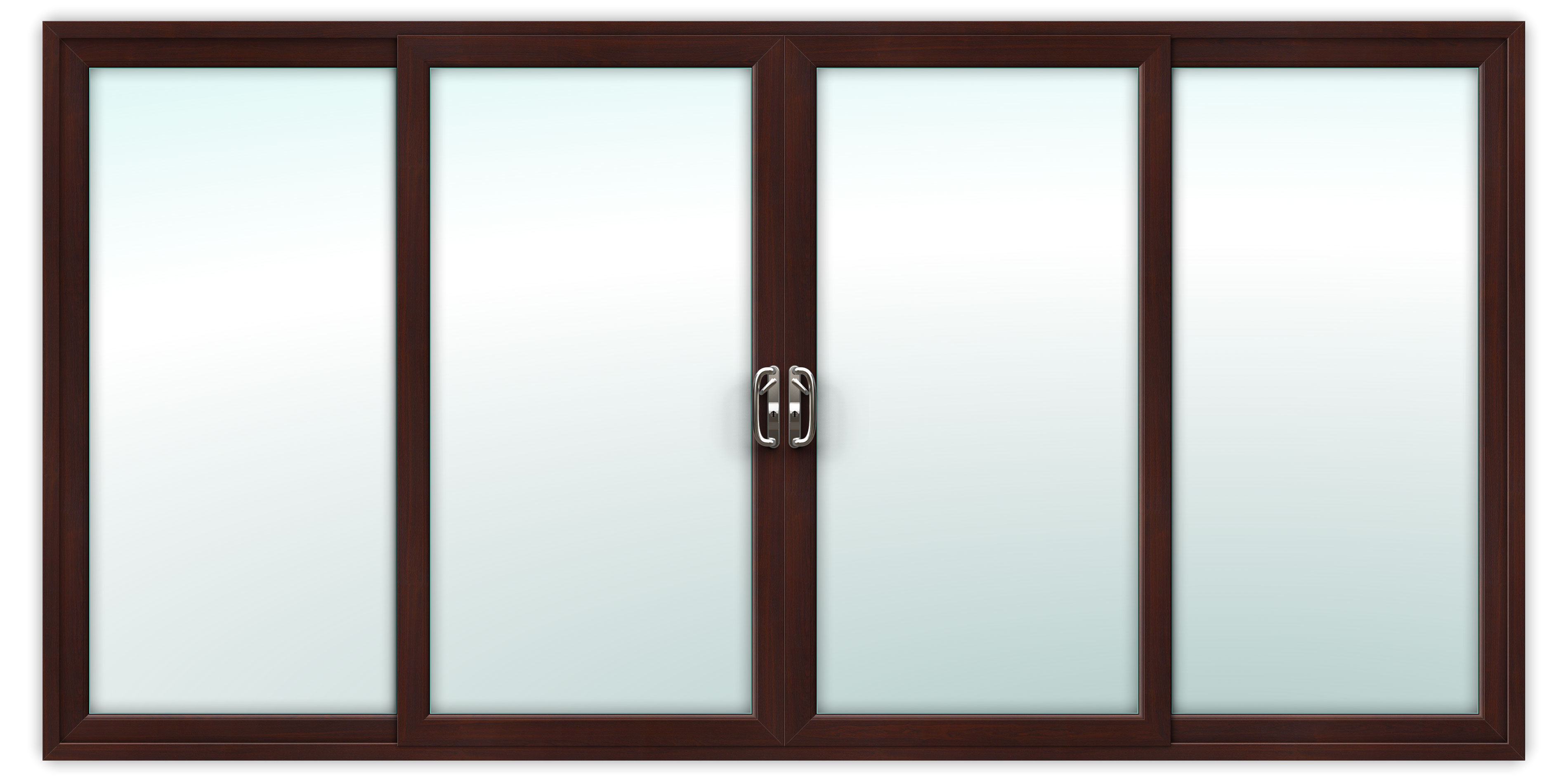 14ft Rosewood uPVC Sliding Patio Doors