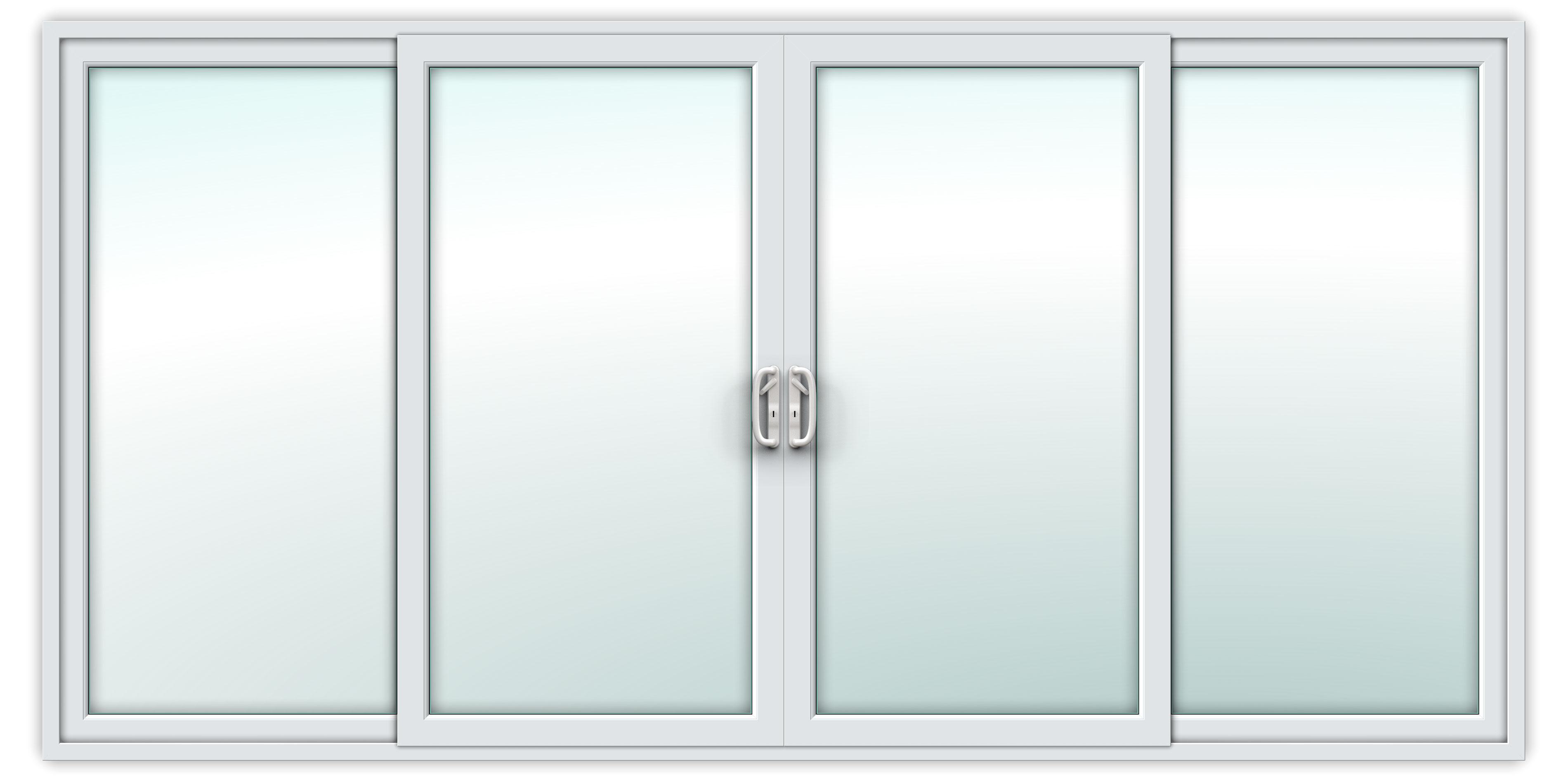 14ft uPVC Sliding Patio Doors