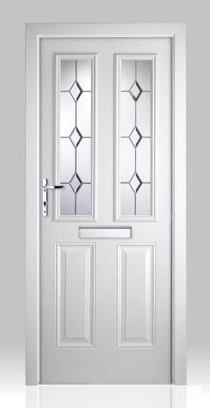 Victorian Right Hand White Composite Front Door Flying Doors