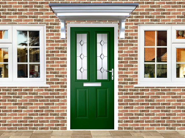 Victorian Left Hand Green Composite Front Door
