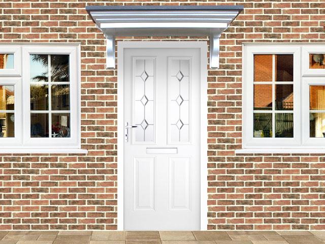 Victorian Right Hand White Composite Front Door | Flying Doors