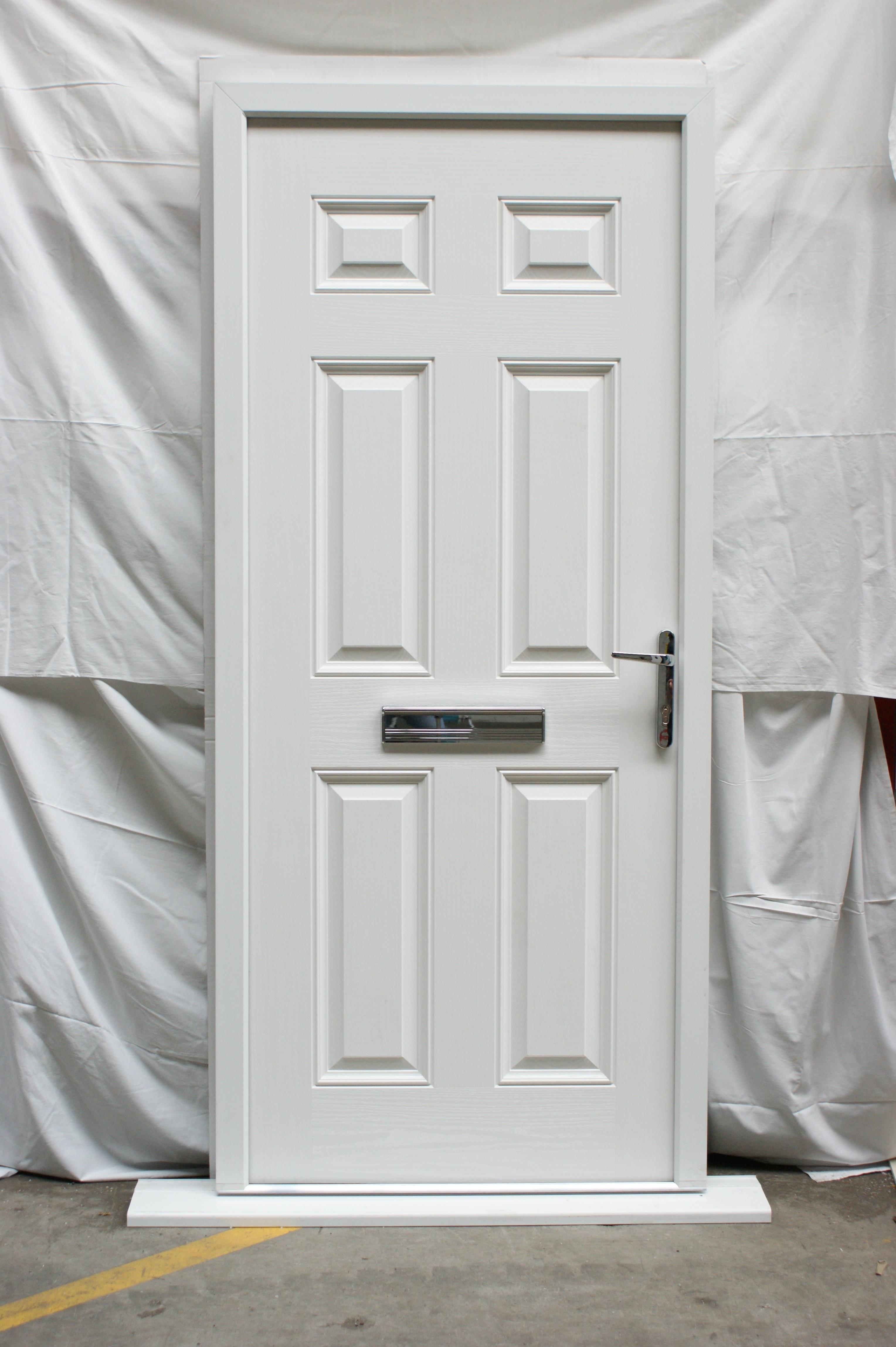 victorian left hand black composite front door