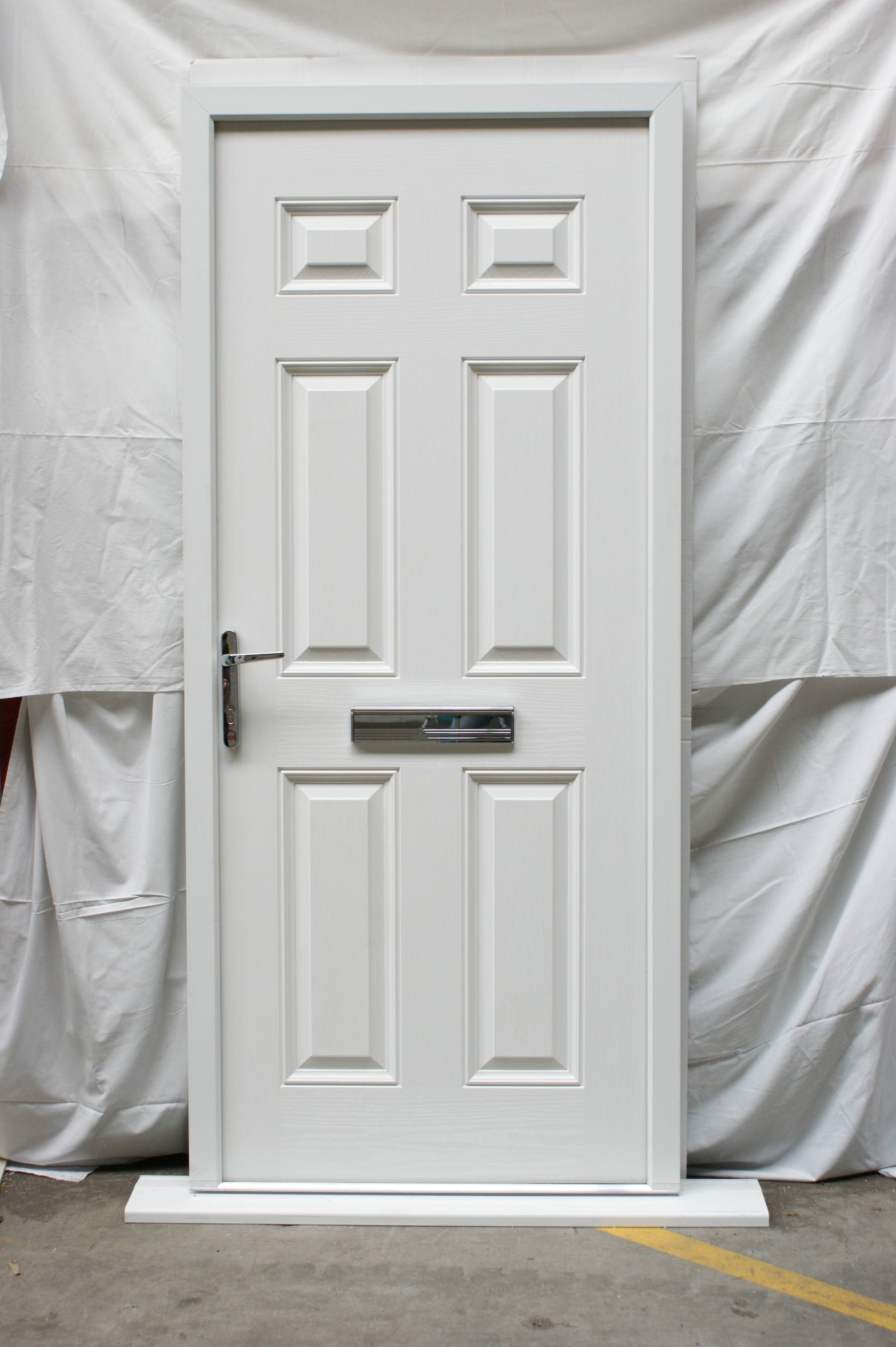 Victorian Right Hand White Composite Front Door & Victorian Right Hand White Composite Front Door | Flying Doors