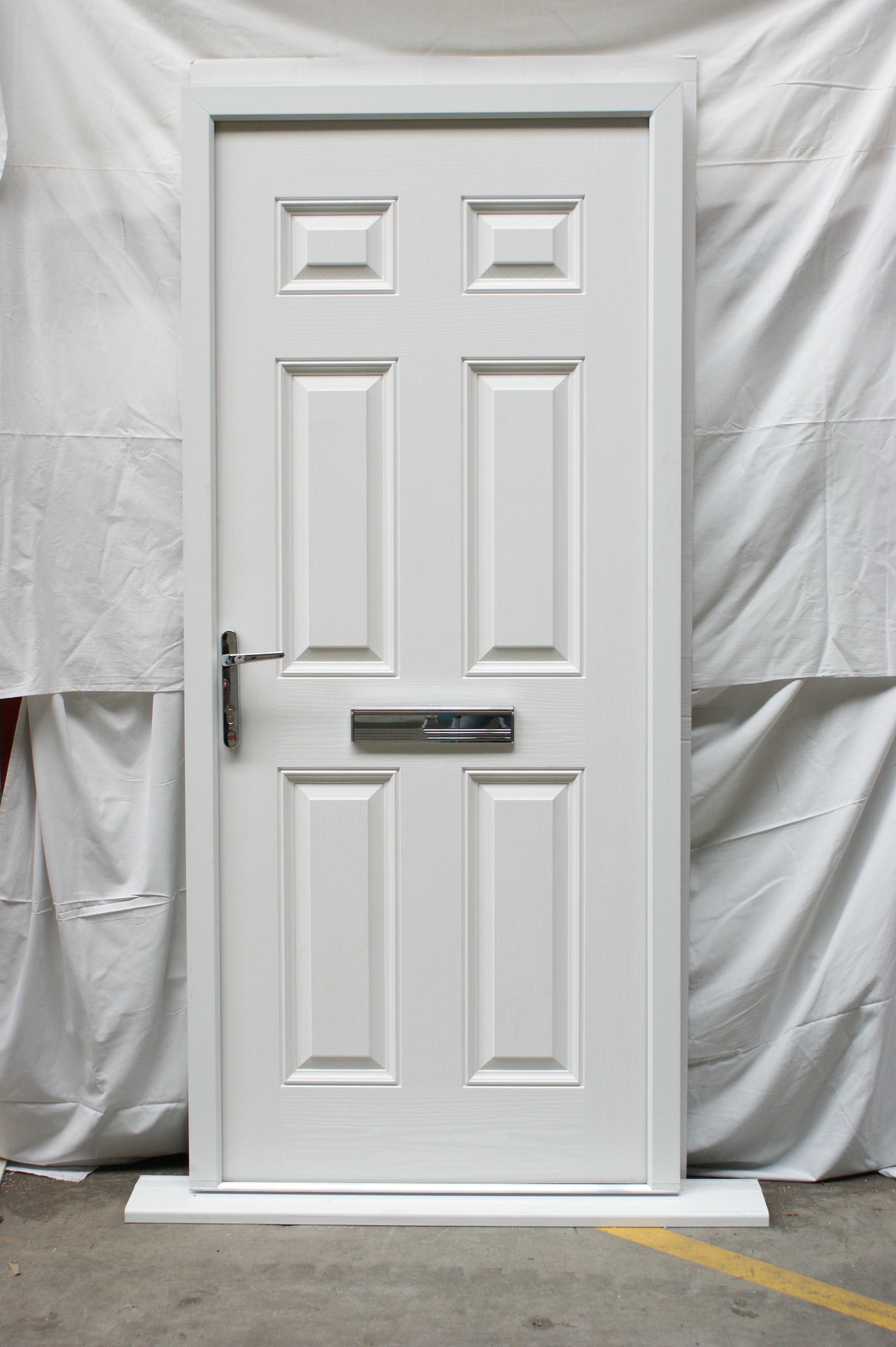 Victorian Right Hand Blue Composite Front Door Flying Doors