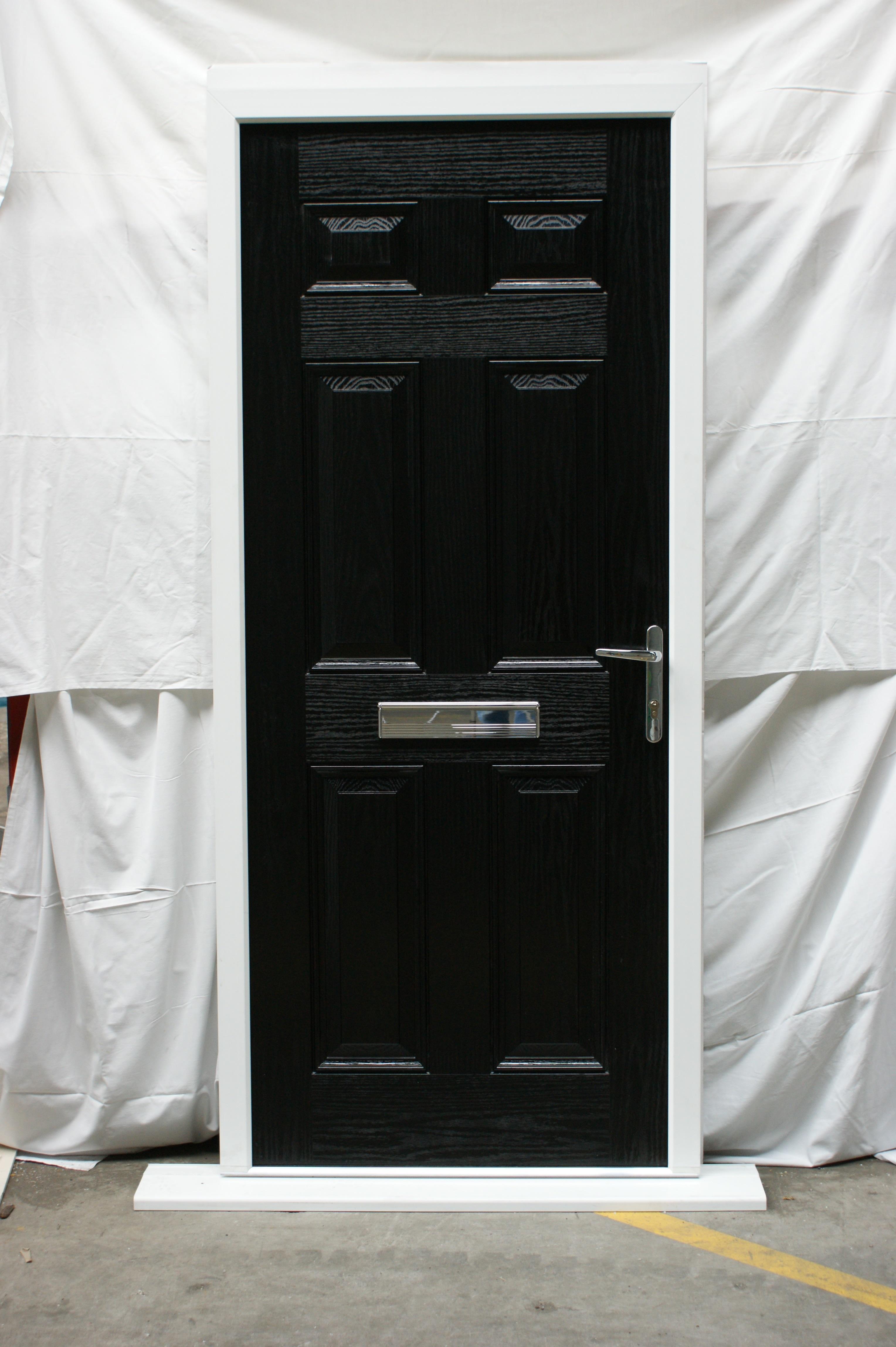 4592 #7A7051 Doors Shop Composite Front Doors Old Composite Regency Black 3ft  wallpaper 3ft French Doors 46653056
