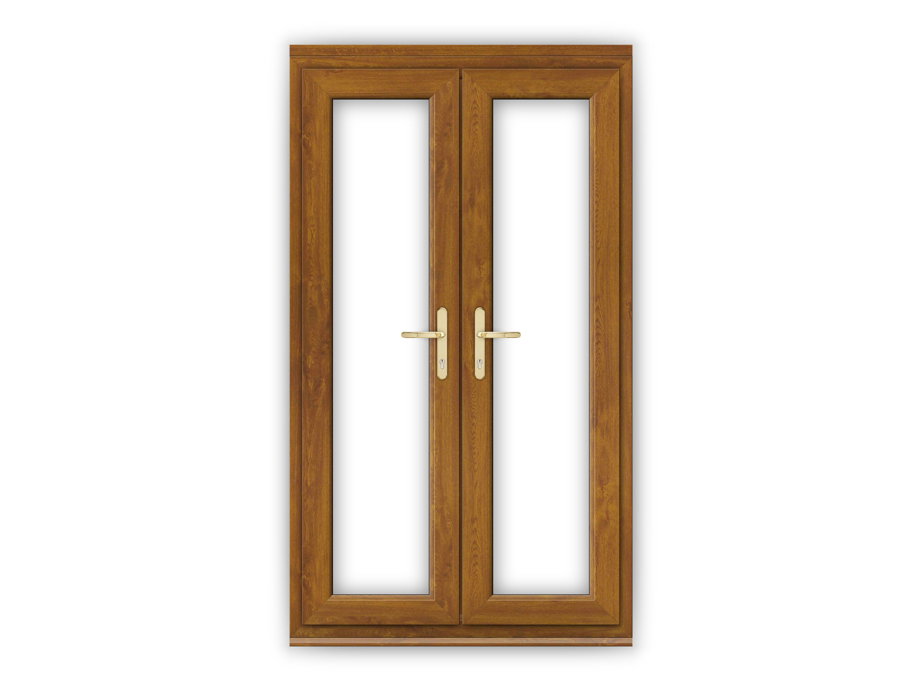 4ft golden oak upvc french doors flying doors for Oak french doors
