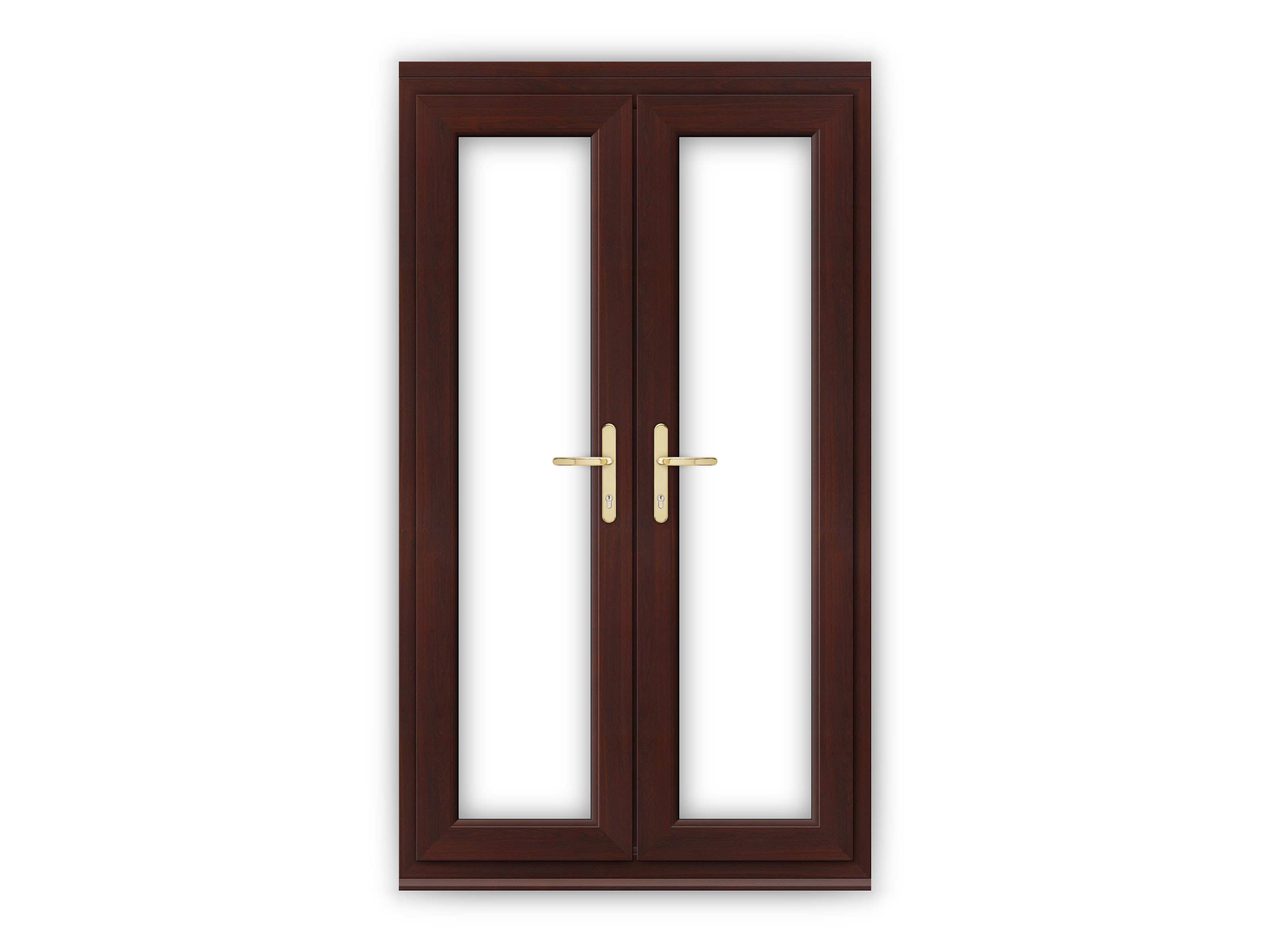 4ft rosewood upvc french doors flying doors