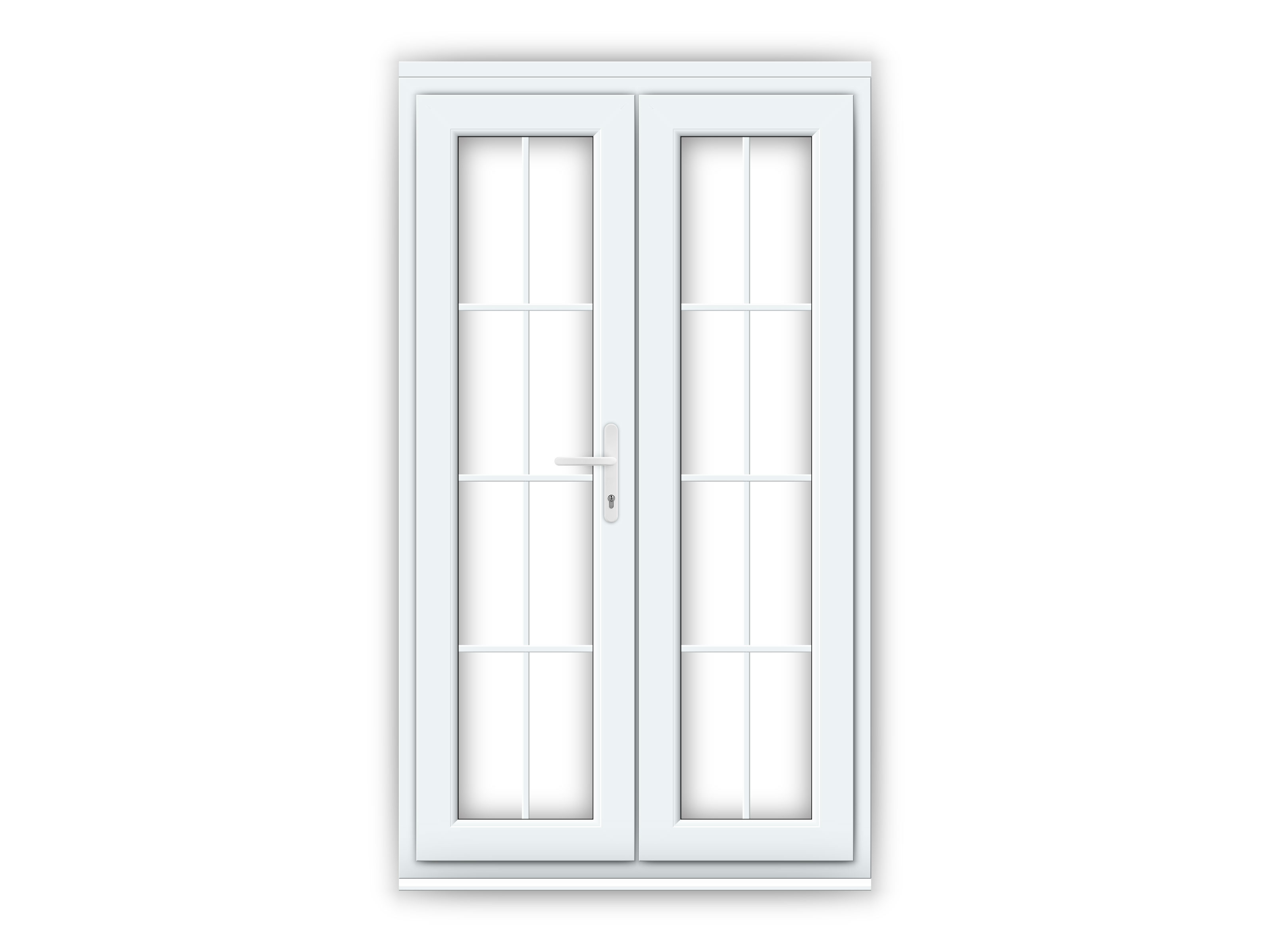 4ft White Upvc Georgian French Doors Flying Doors