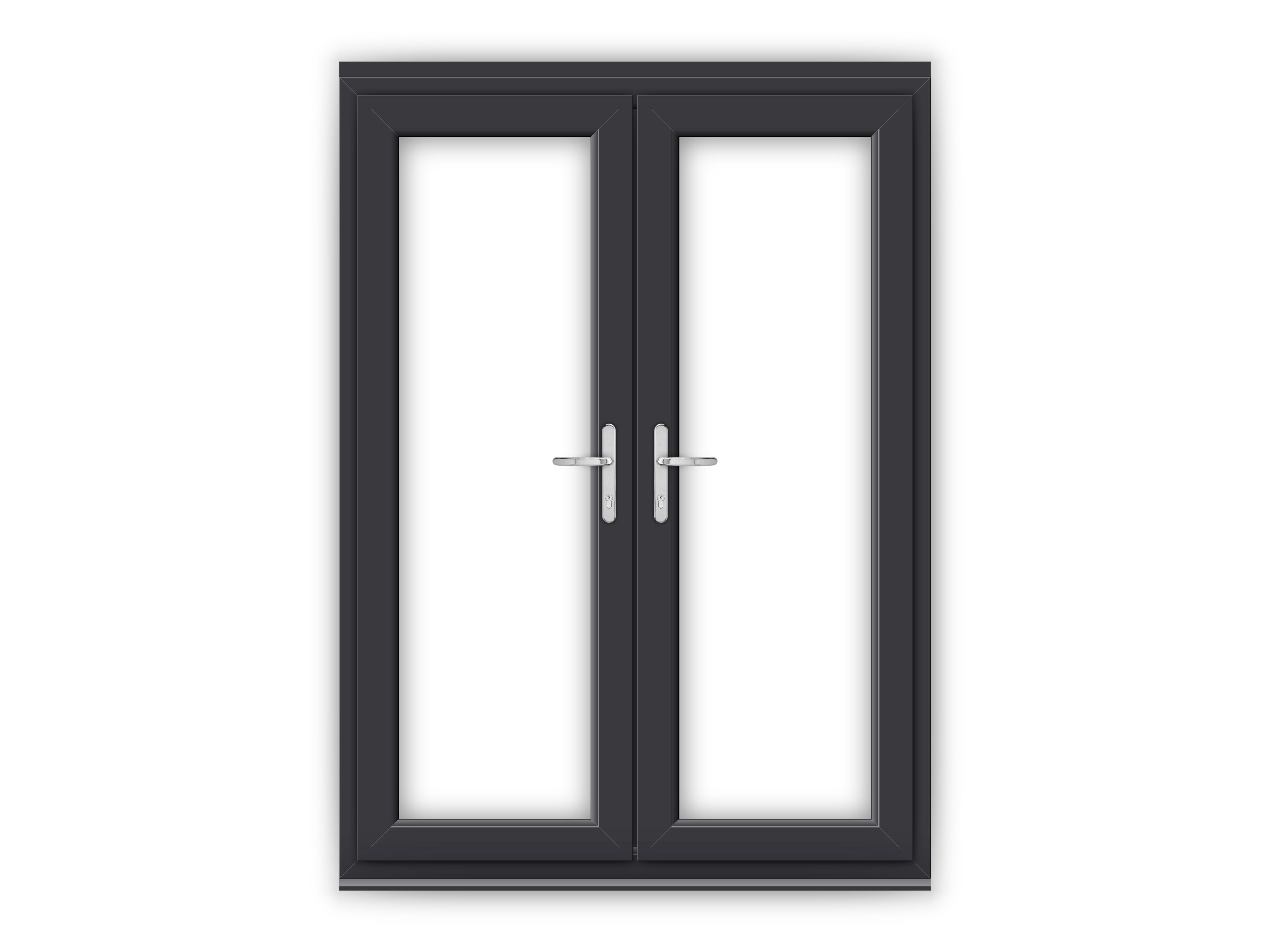 5ft anthracite grey upvc french doors flying doors for Upvc french doors grey