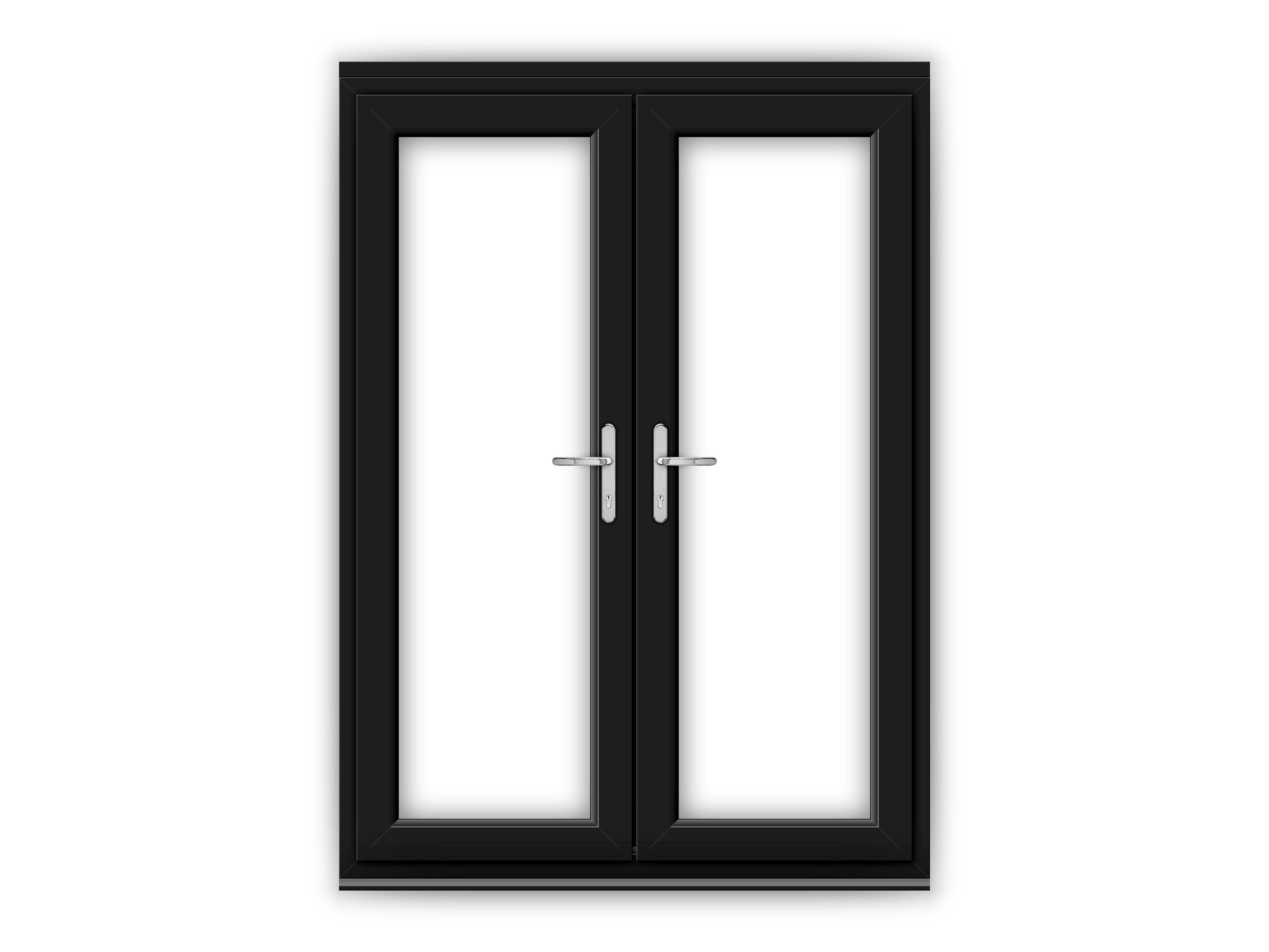 5ft Black uPVC French Doors