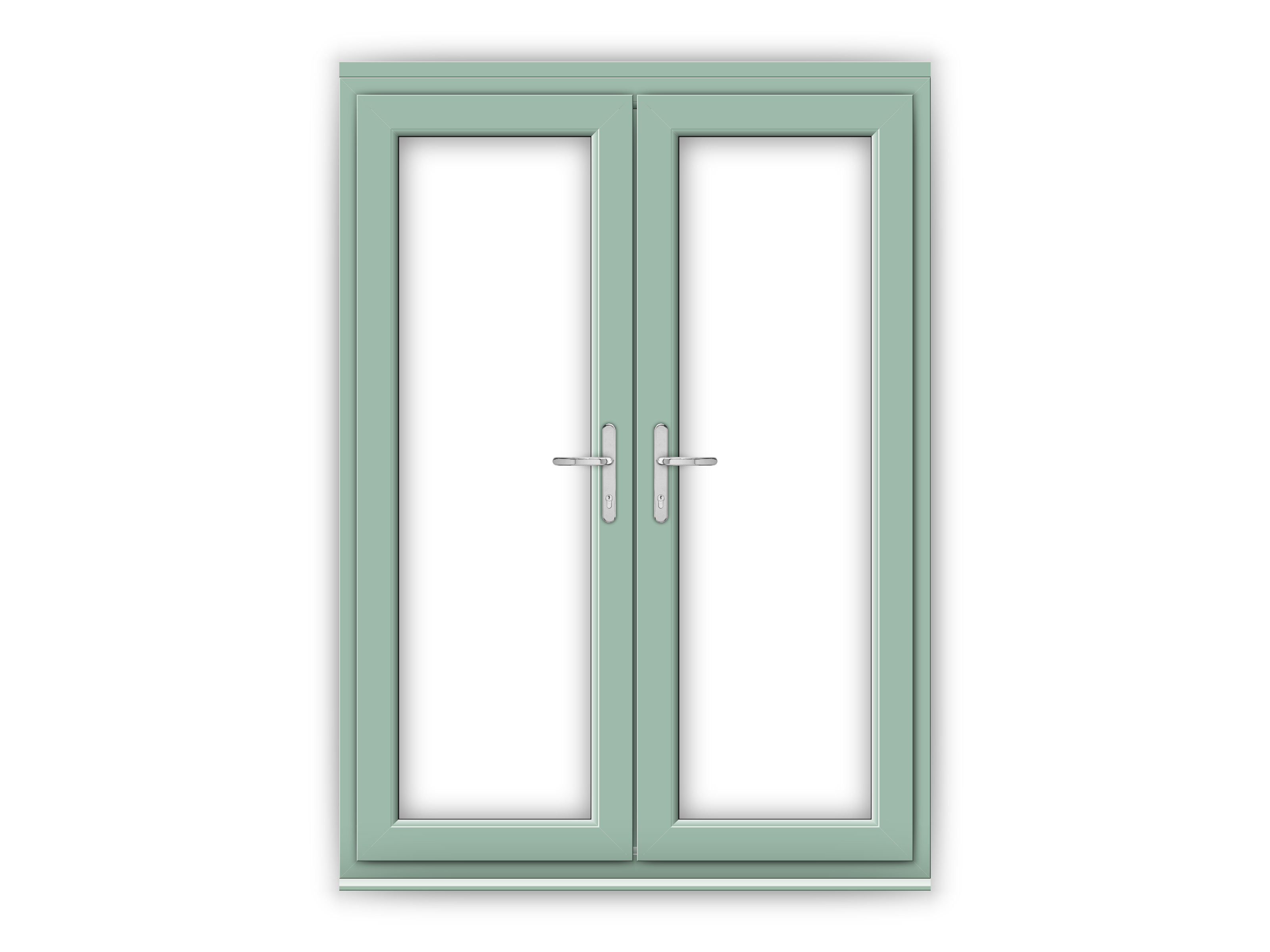 5ft chartwell green upvc french doors flying doors for 5 ft french patio doors