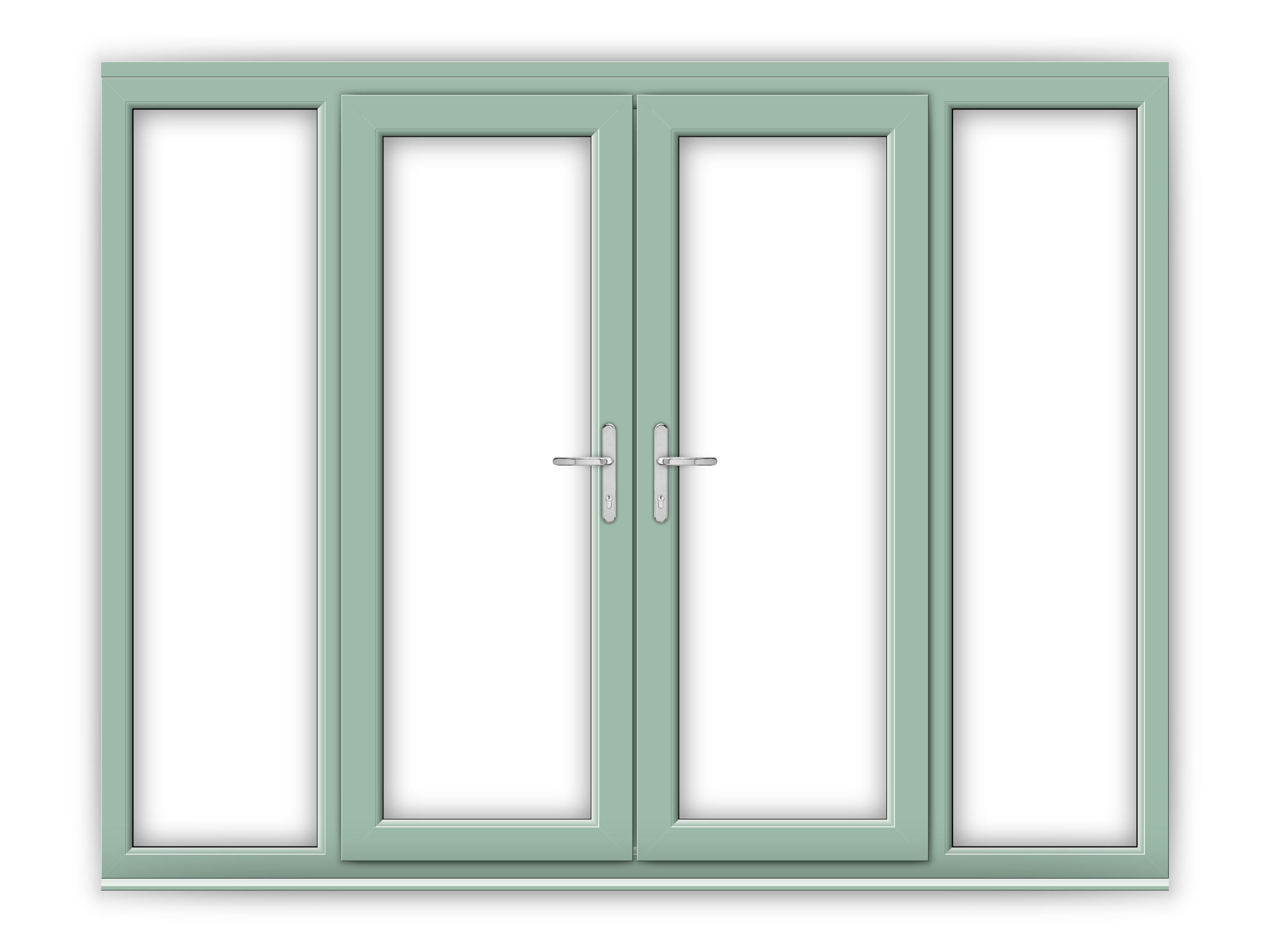 5ft chartwell green upvc french doors with wide side for Upvc french doors 1790 x 2090mm