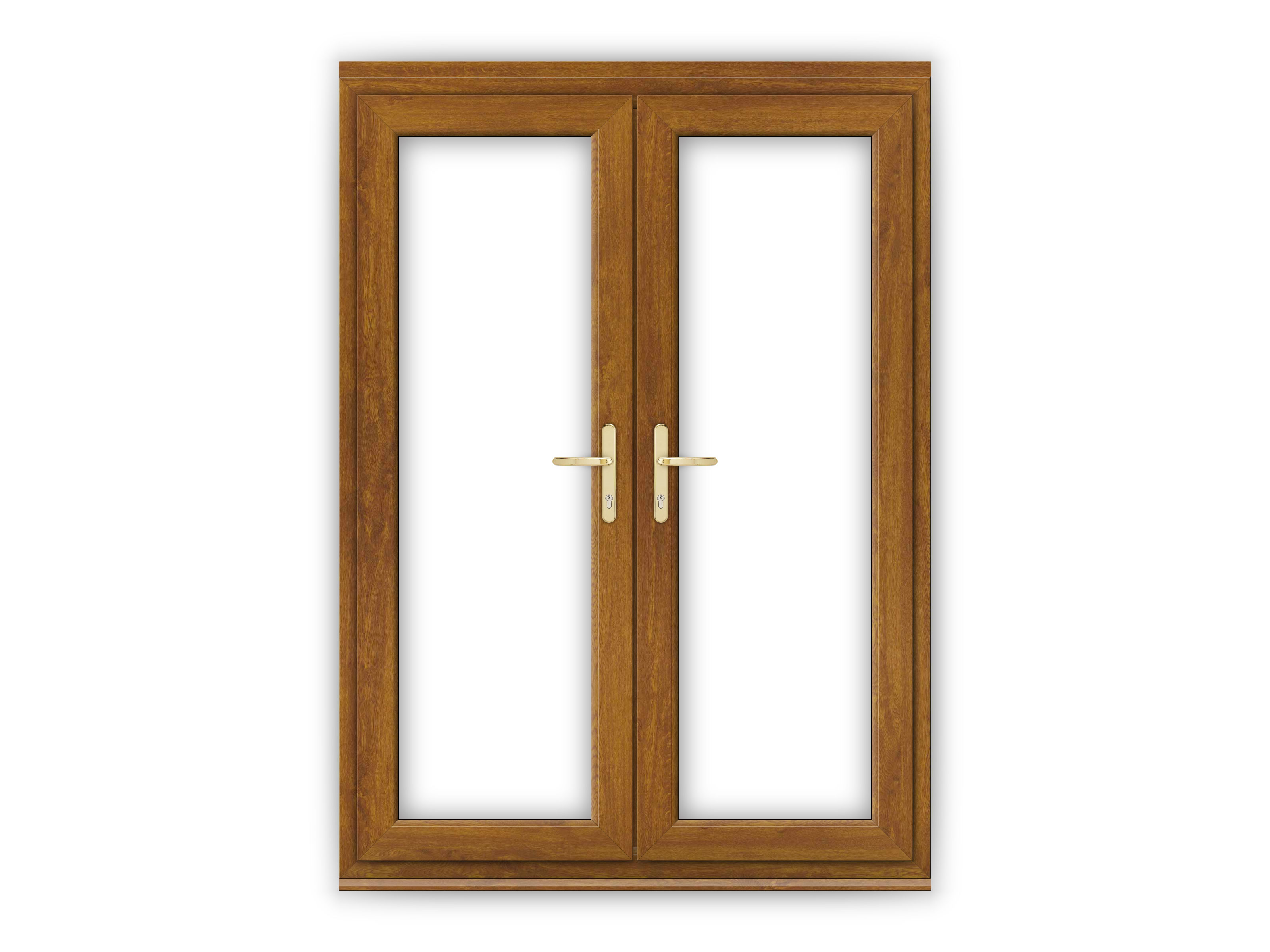 5ft golden oak upvc french doors flying doors for Oak french doors