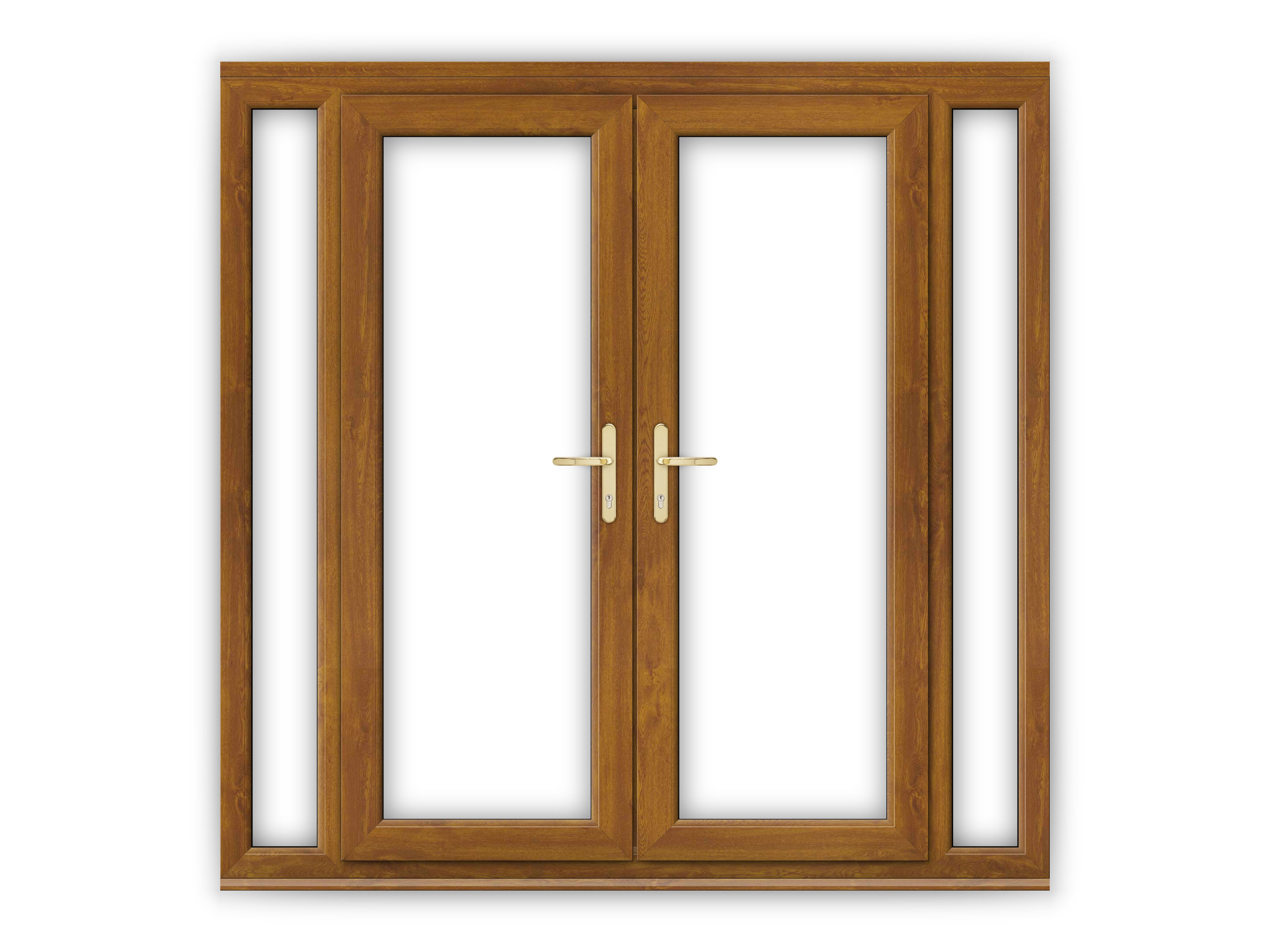 5ft golden oak upvc french doors with narrow side panels for 5 ft french patio doors