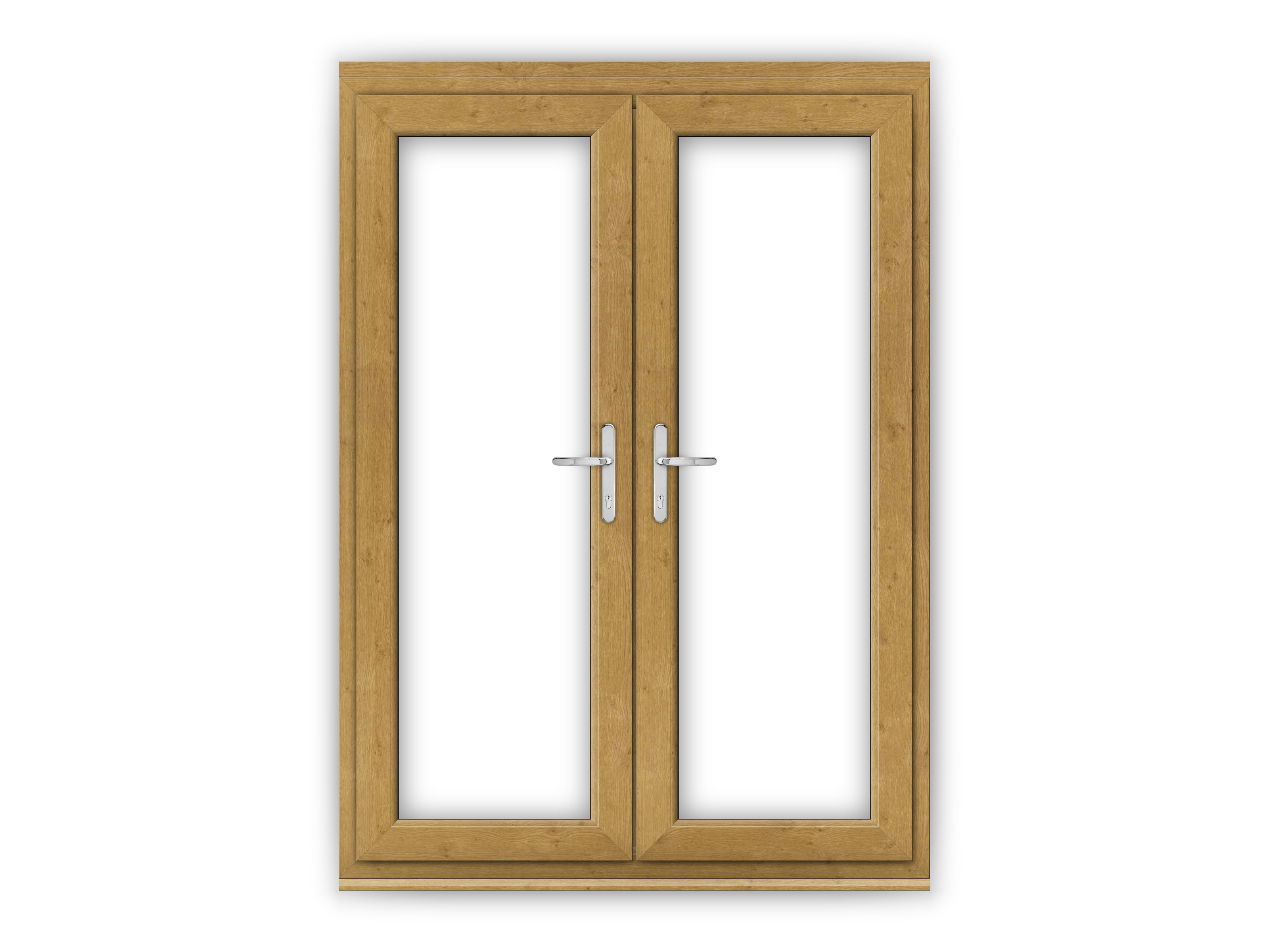 5ft irish oak upvc french doors flying doors for Oak french doors