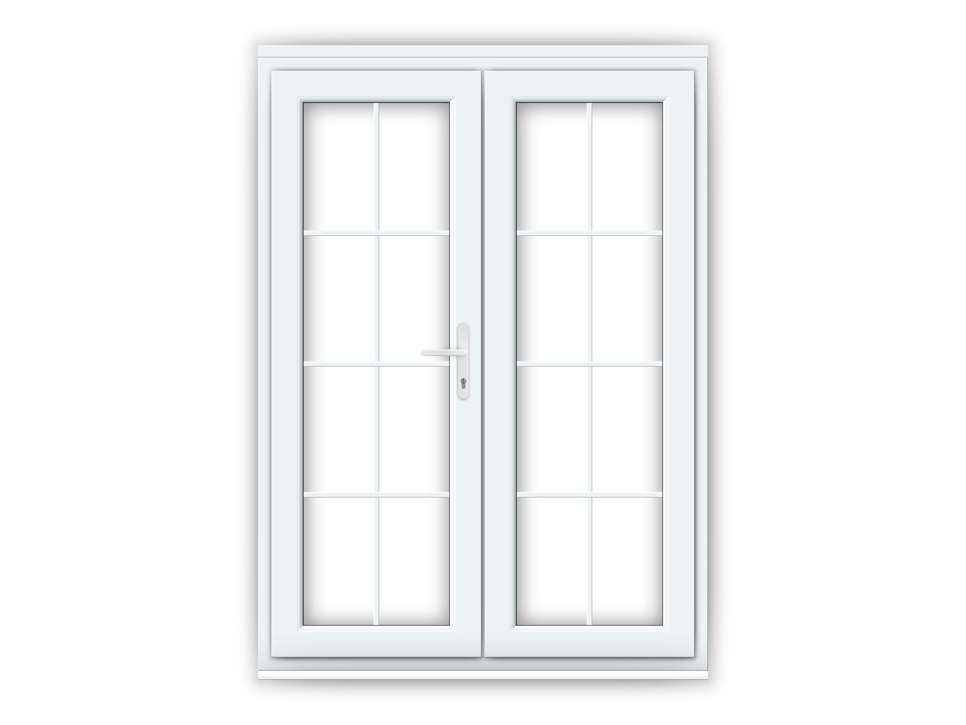 5ft uPVC Georgian French Door Set