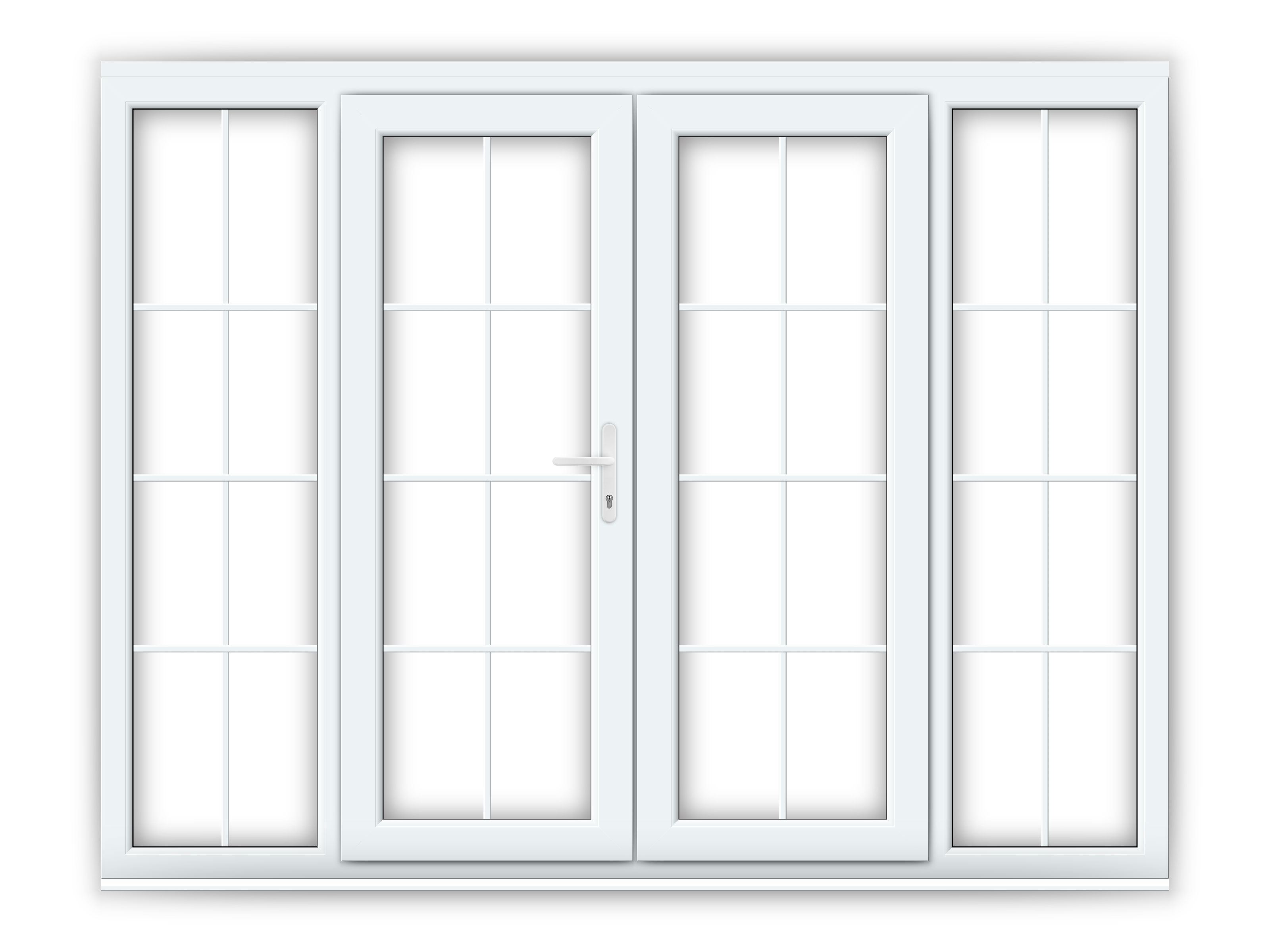5ft upvc georgian french doors with 2 wide upvc side for 5 ft french patio doors