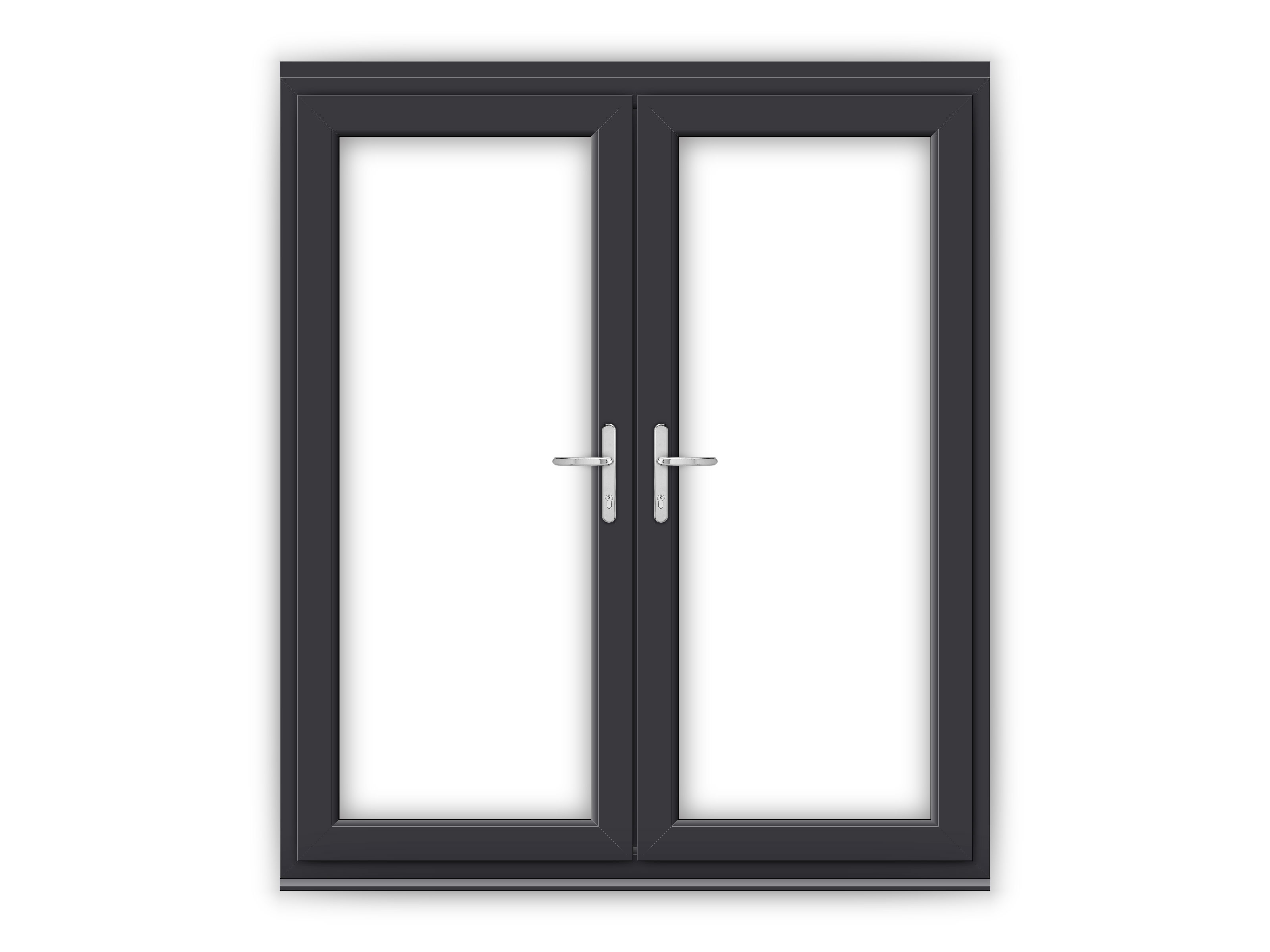 6ft anthracite grey upvc french doors flying doors for Upvc french doors grey