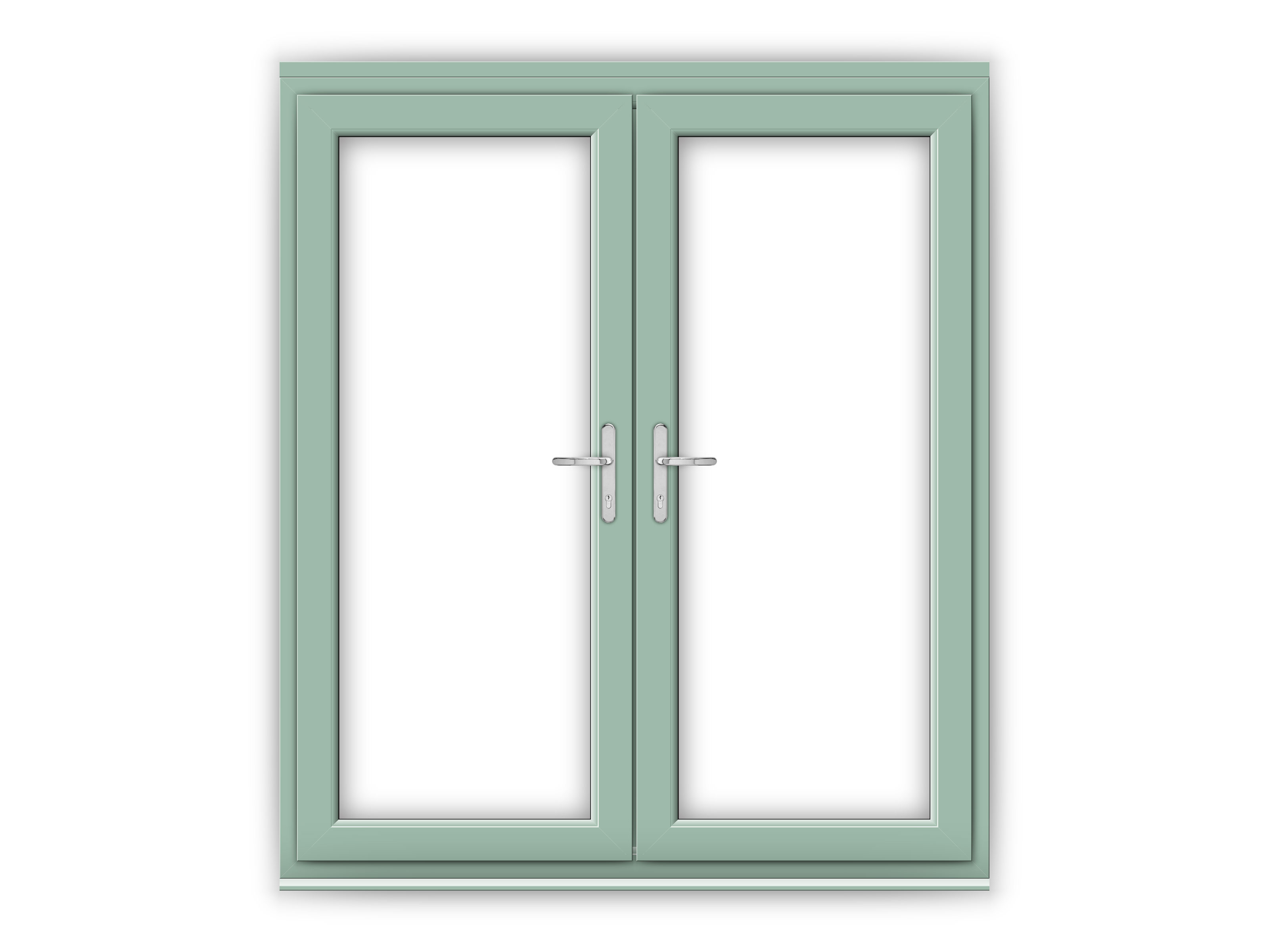 6ft chartwell green upvc french doors flying doors for 6 ft french patio doors