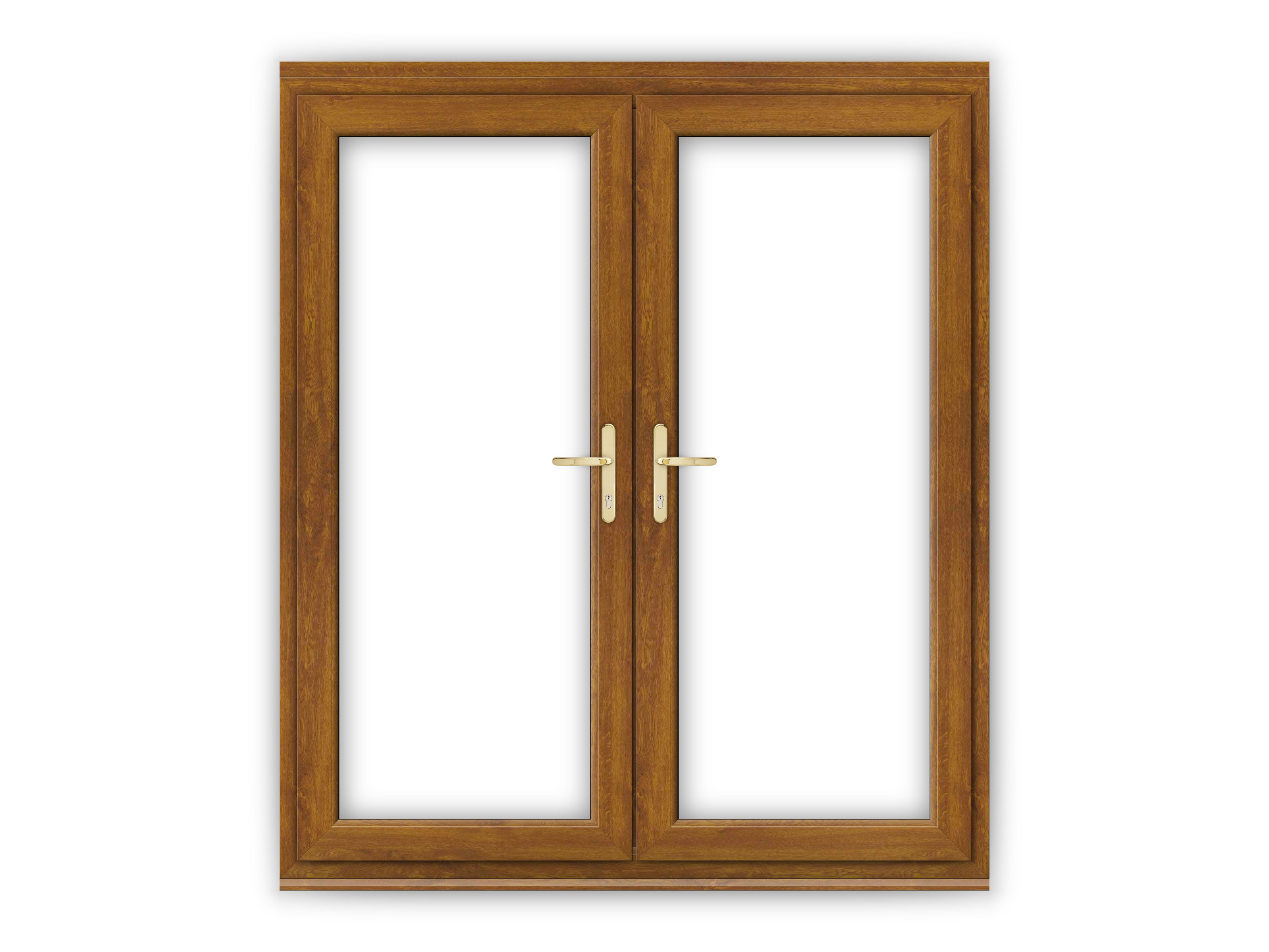 6ft golden oak upvc french doors flying doors