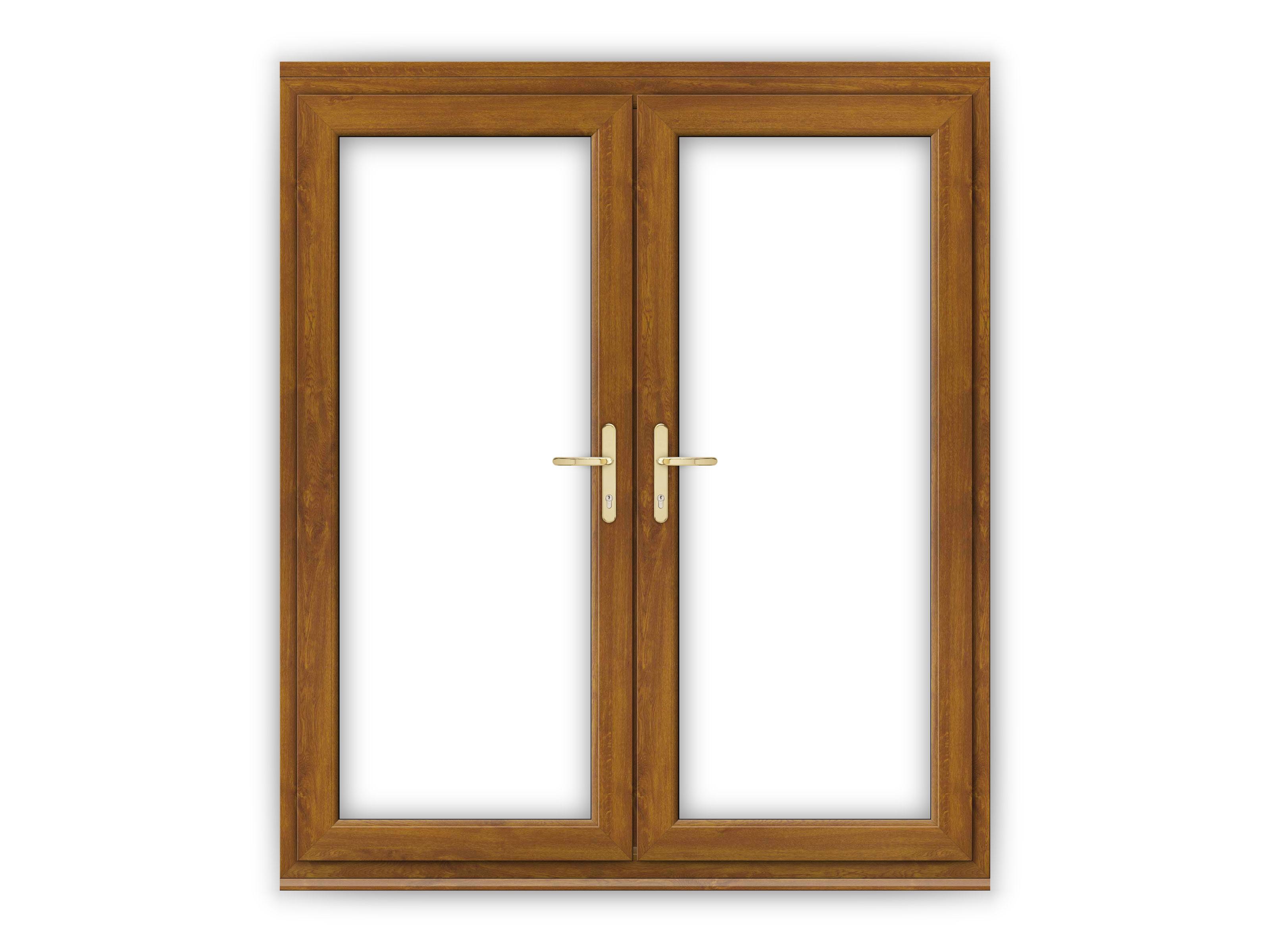 6ft Golden Oak Upvc French Doors Flying Doors