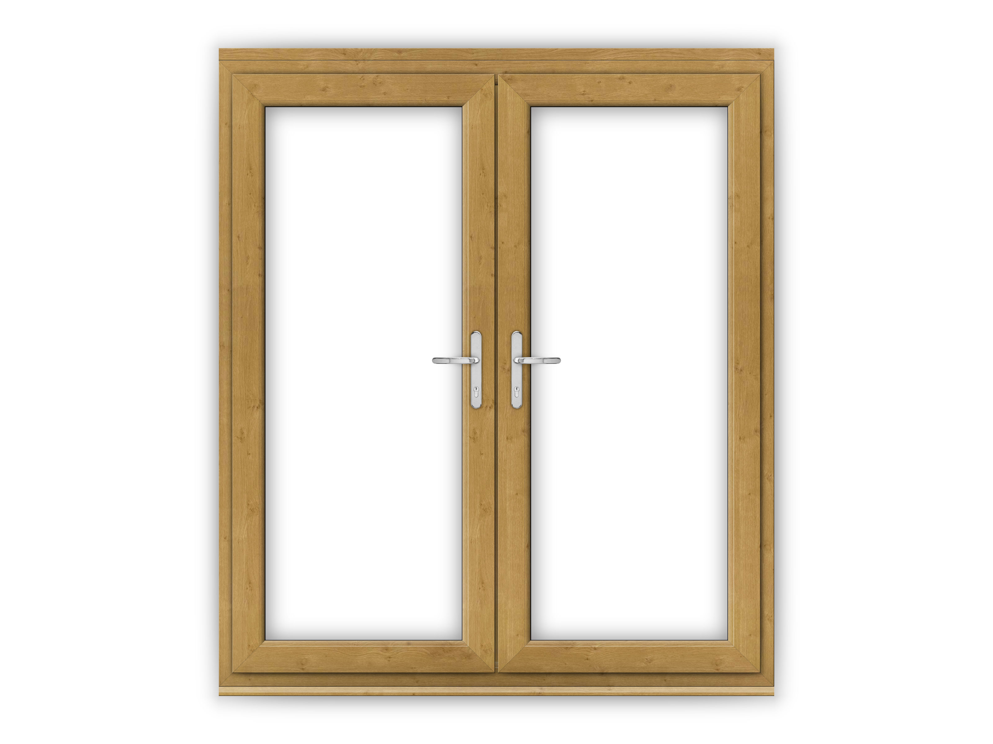 6ft irish oak upvc french doors flying doors