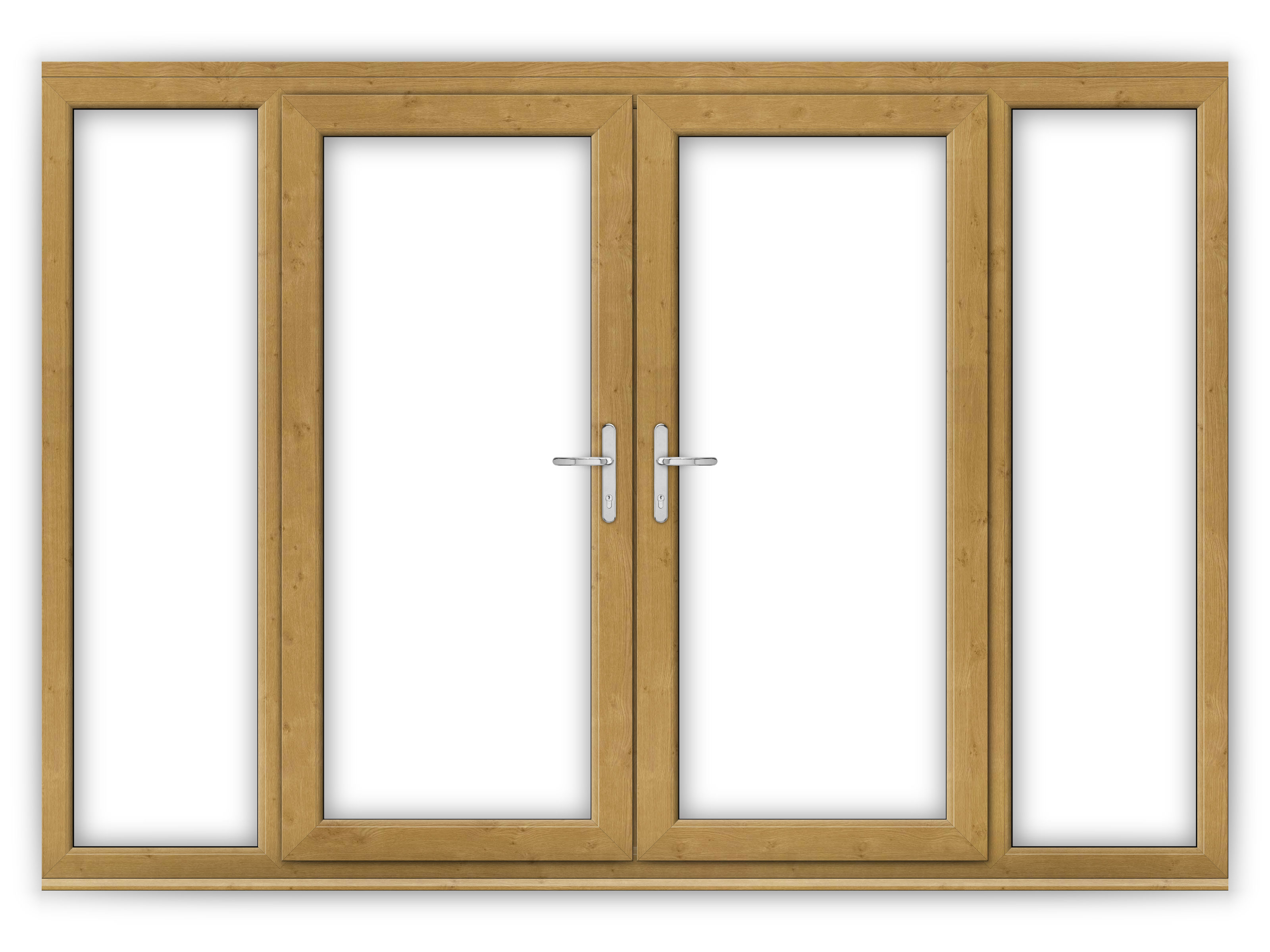6ft irish oak upvc french doors with wide side panels for 6 ft wide french doors
