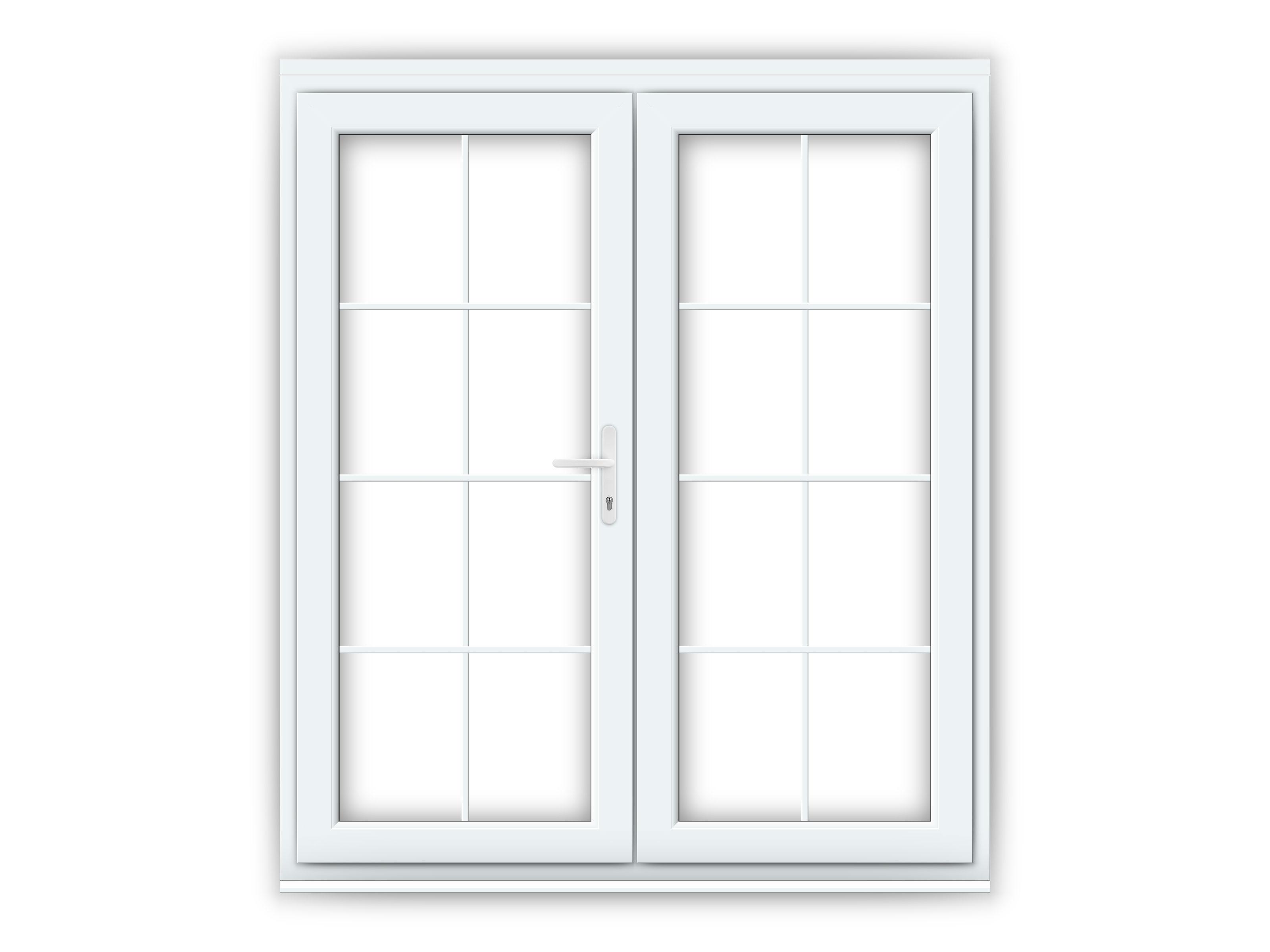 6ft white upvc georgian french doors flying doors for French doors exterior upvc