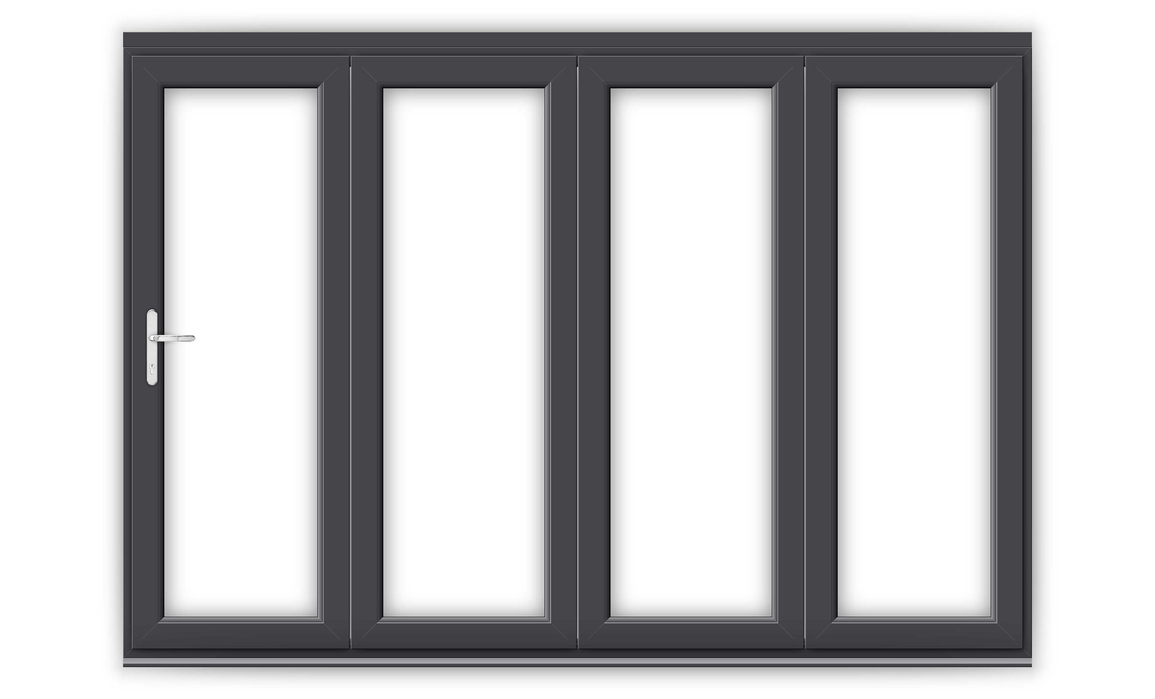 10ft Anthracite Grey uPVC Bifold Doors