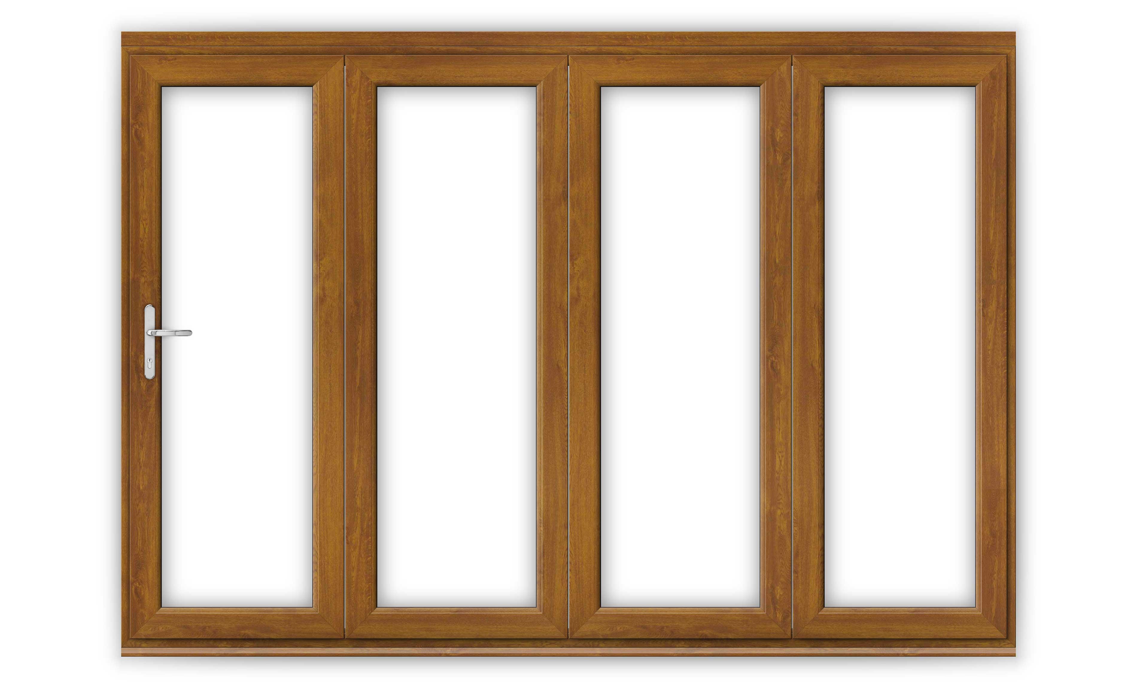10ft Golden Oak uPVC Bifold Doors
