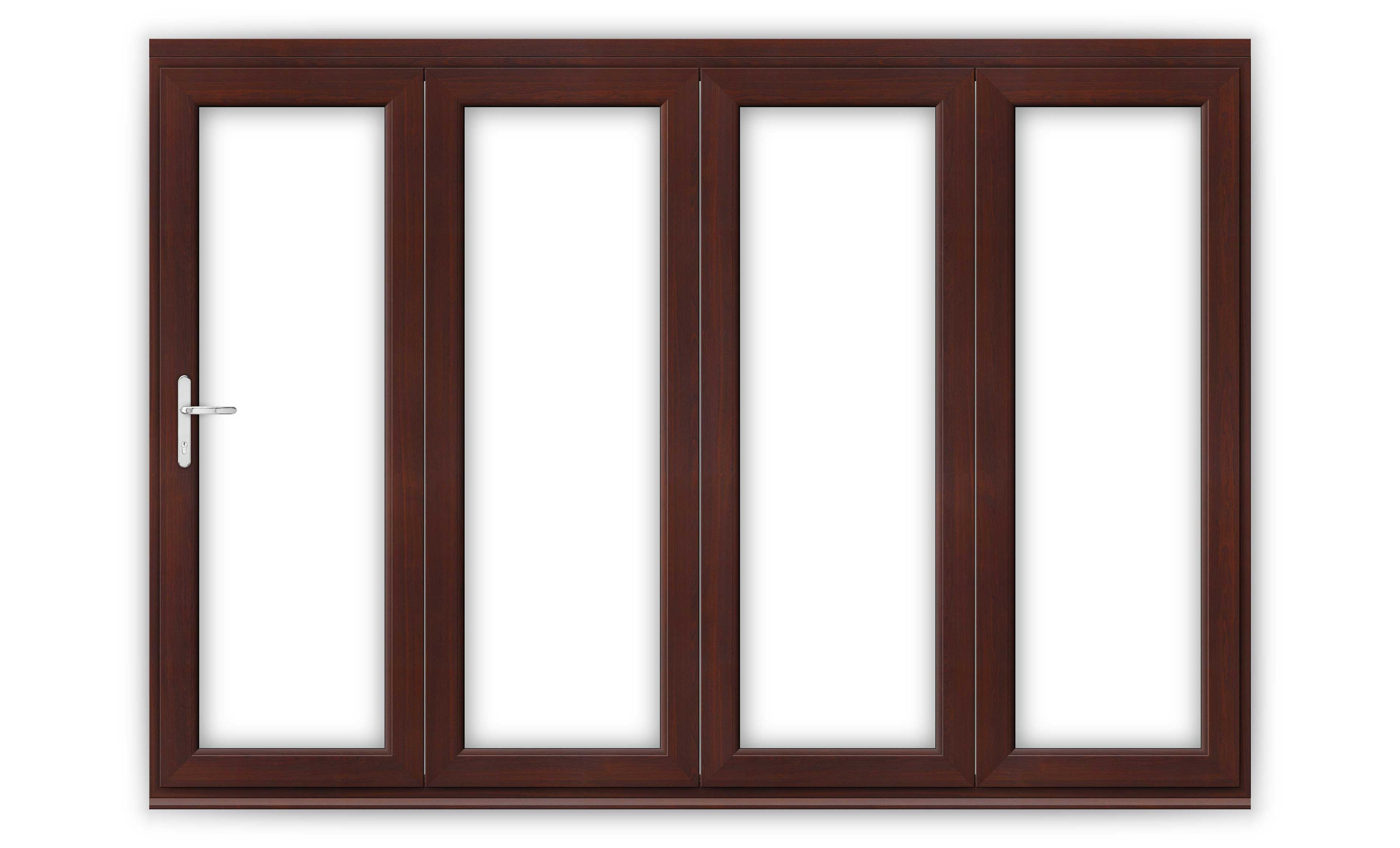 10ft Rosewood uPVC Bifold Door Set