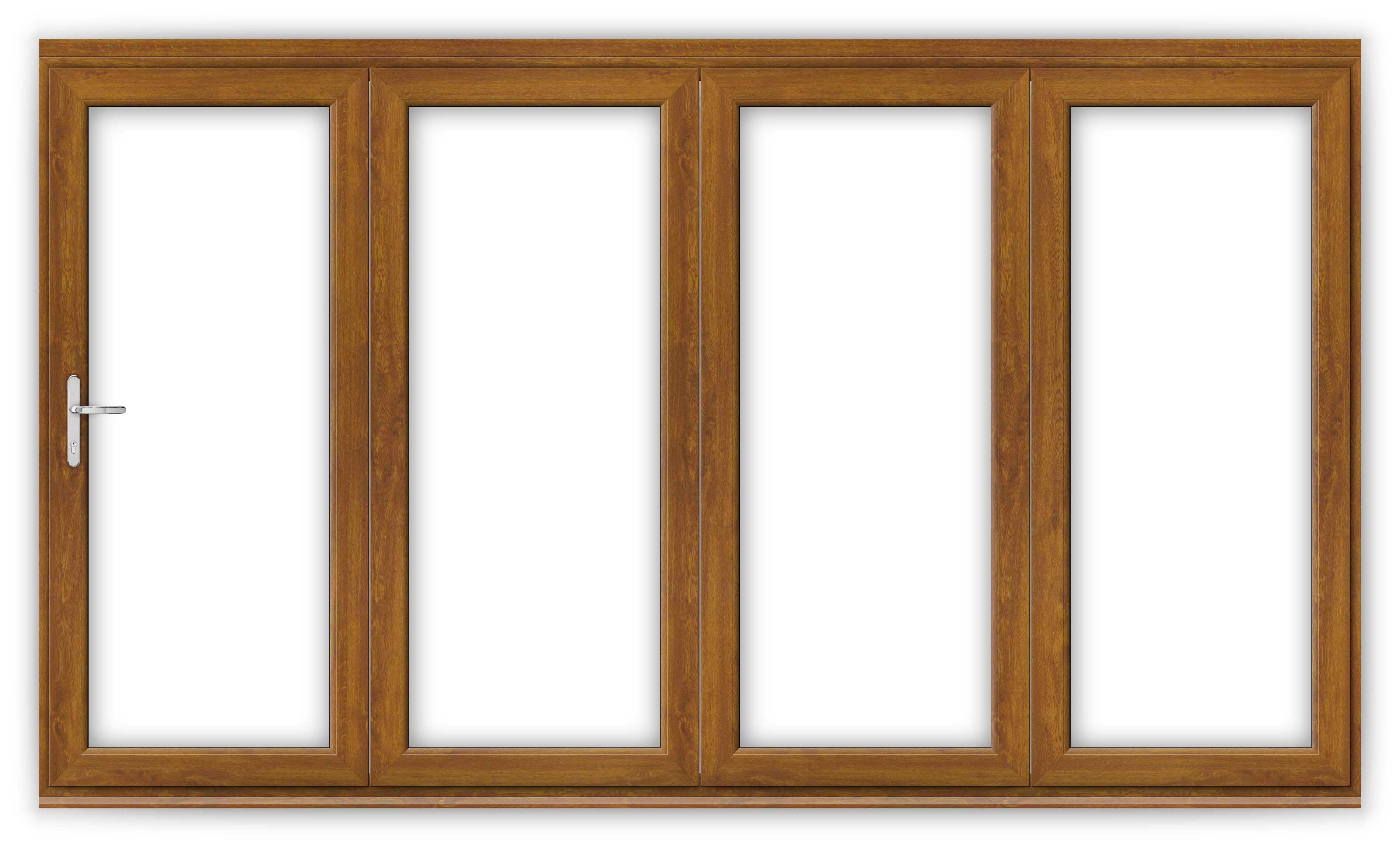 12ft Golden Oak uPVC Bifold Door Set