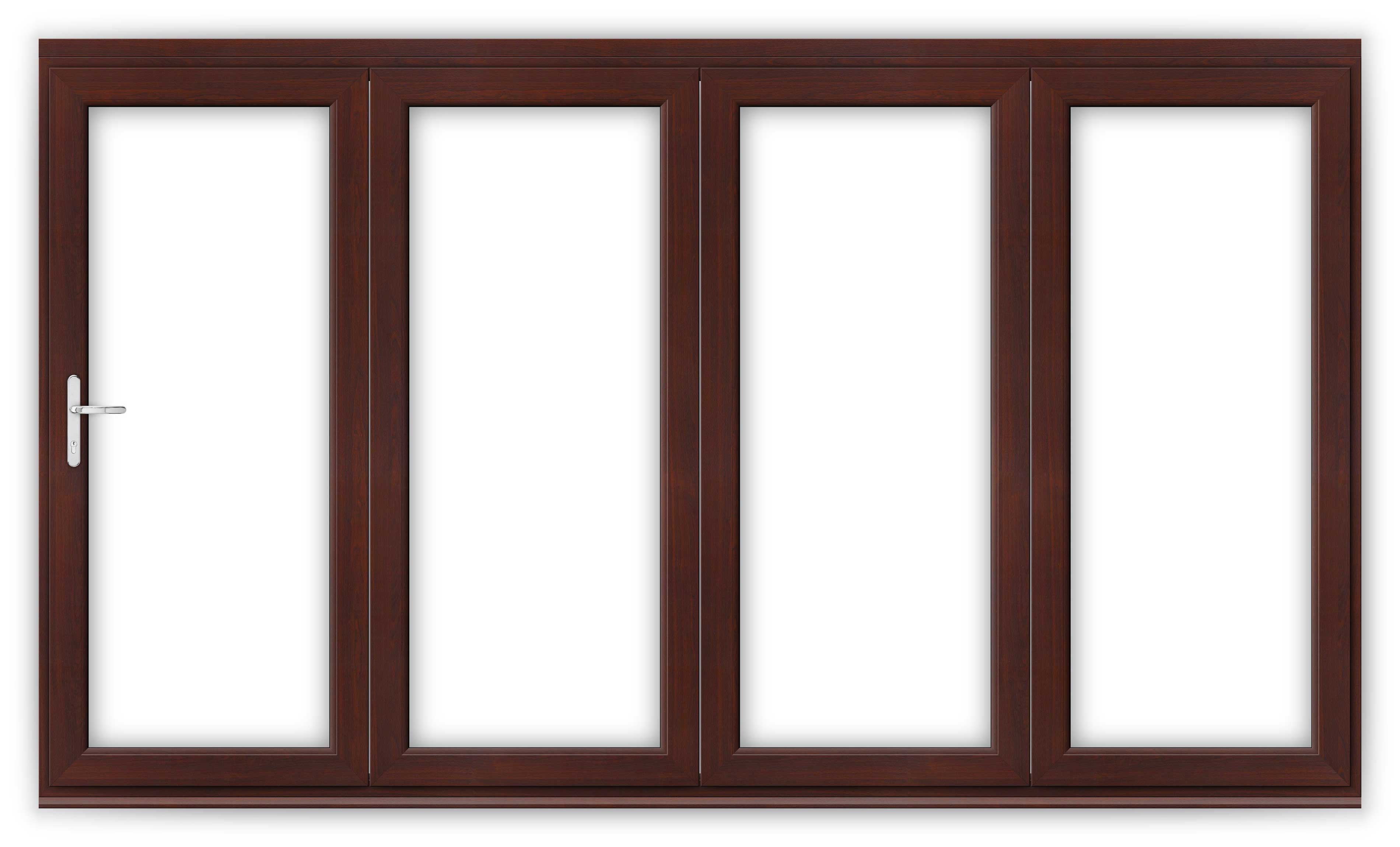 12ft Rosewood uPVC Bifold Door Set  sc 1 st  Flying Doors & 12ft Rosewood uPVC Bifold Folding Doors | Flying Doors