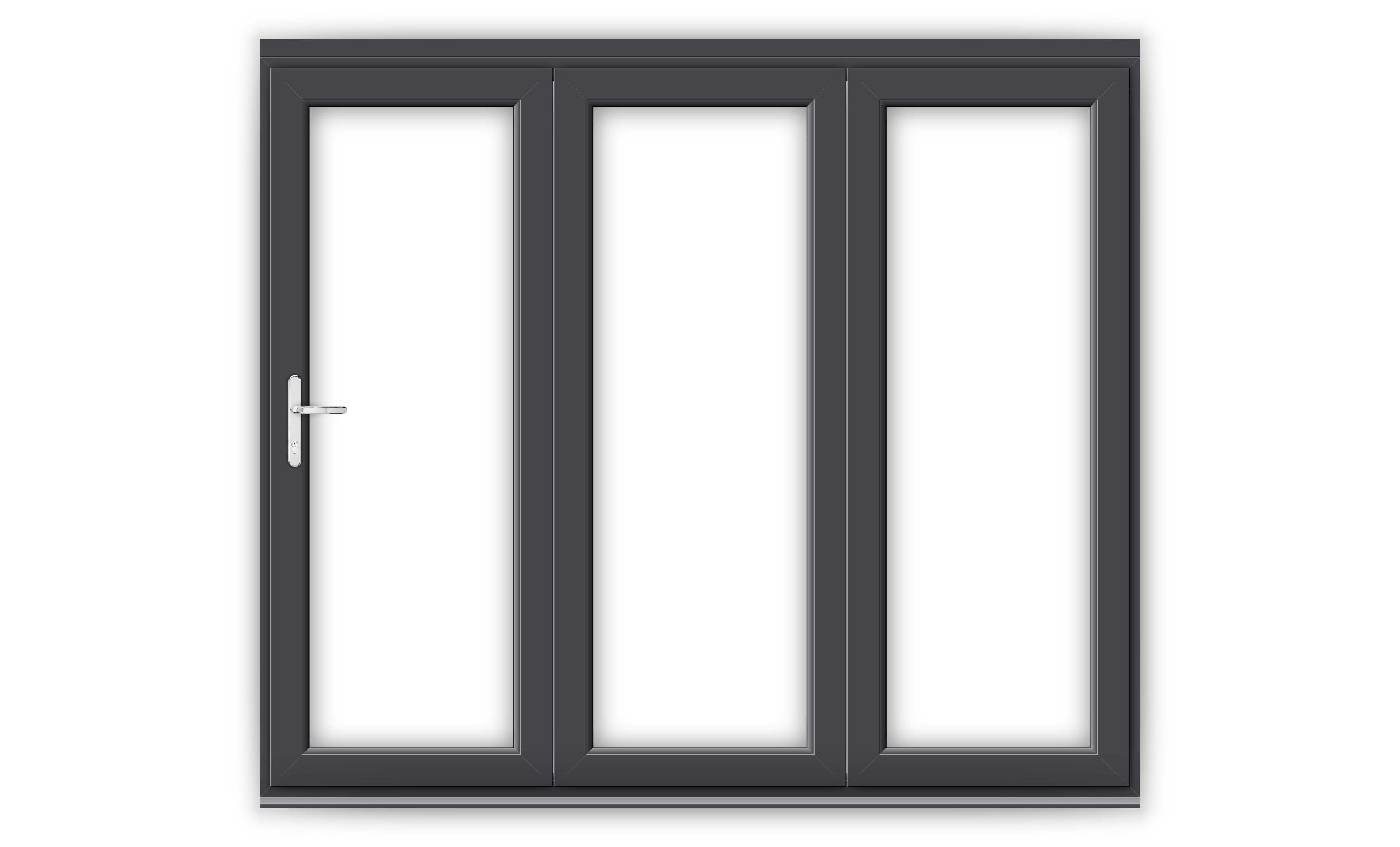 8ft Anthracite Grey uPVC Bifold Door Set
