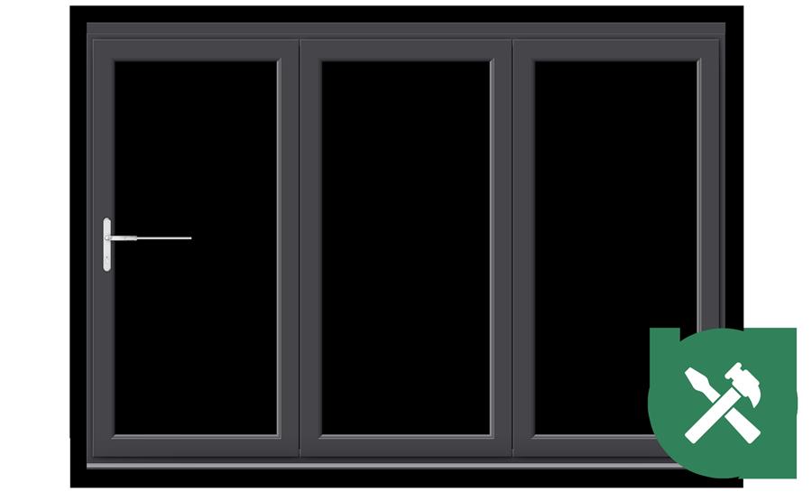 Custom Anthracite Grey uPVC Bifold Door Set