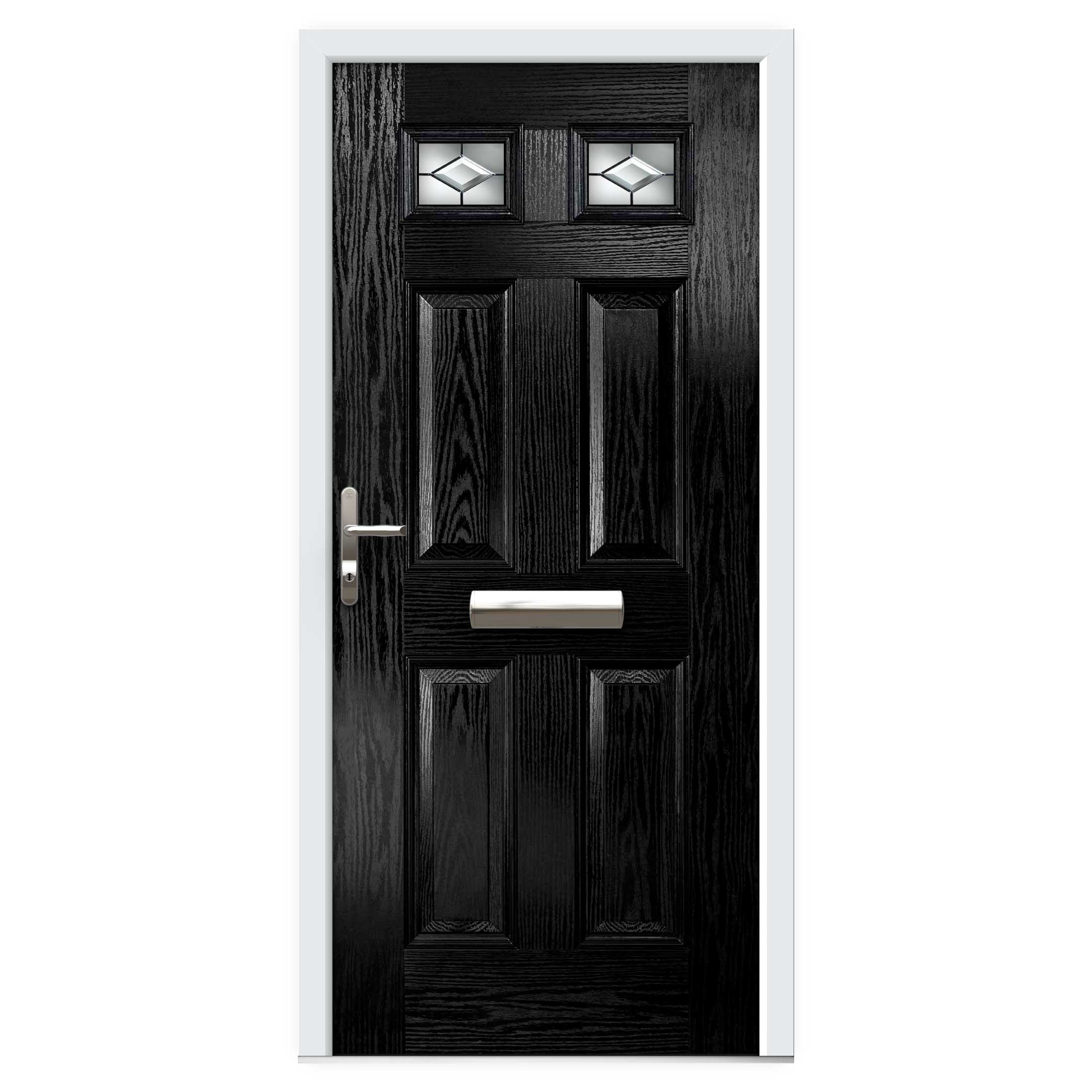 Black Top Lite Composite Front Door