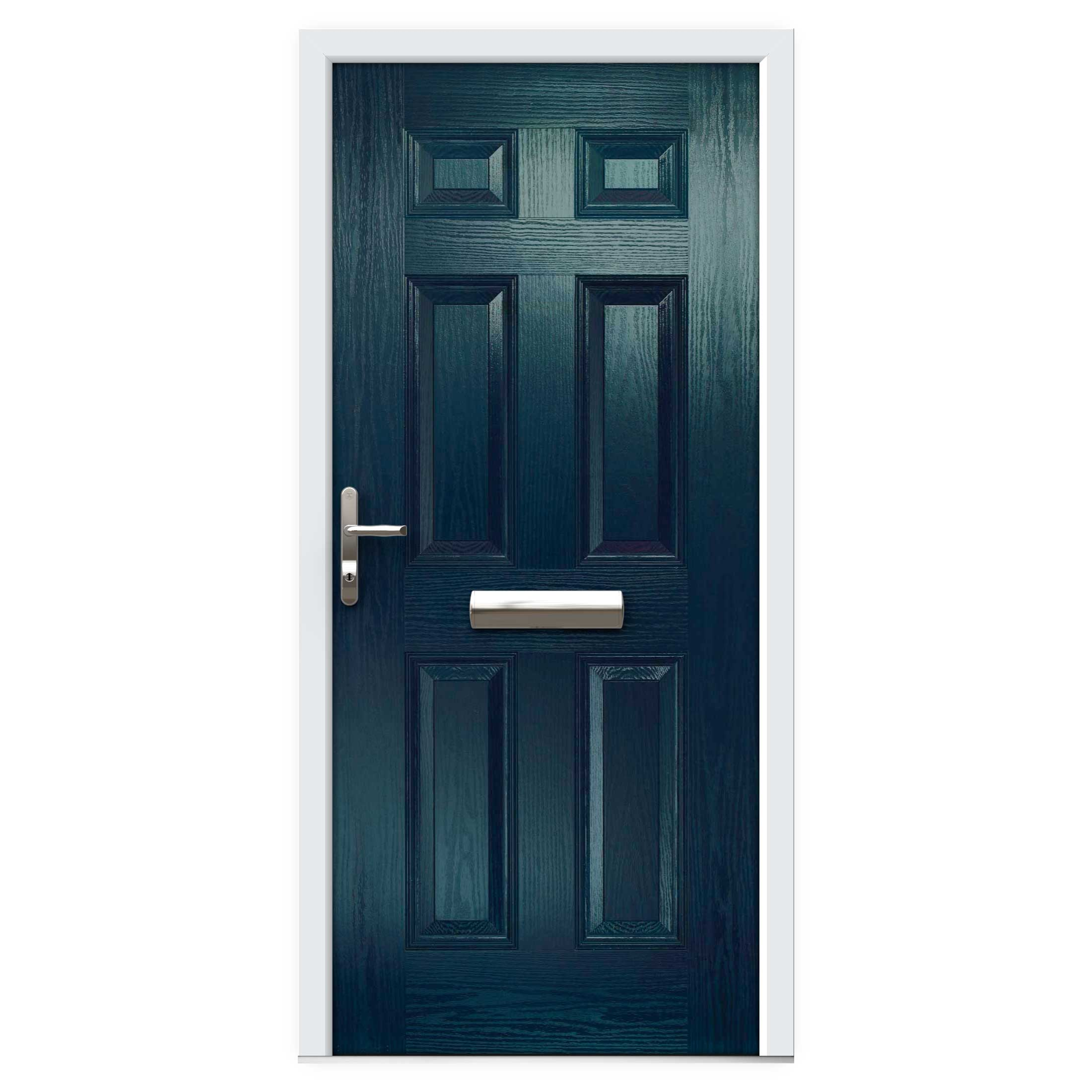 Blue 6 Panel Composite Front Door Flying Doors