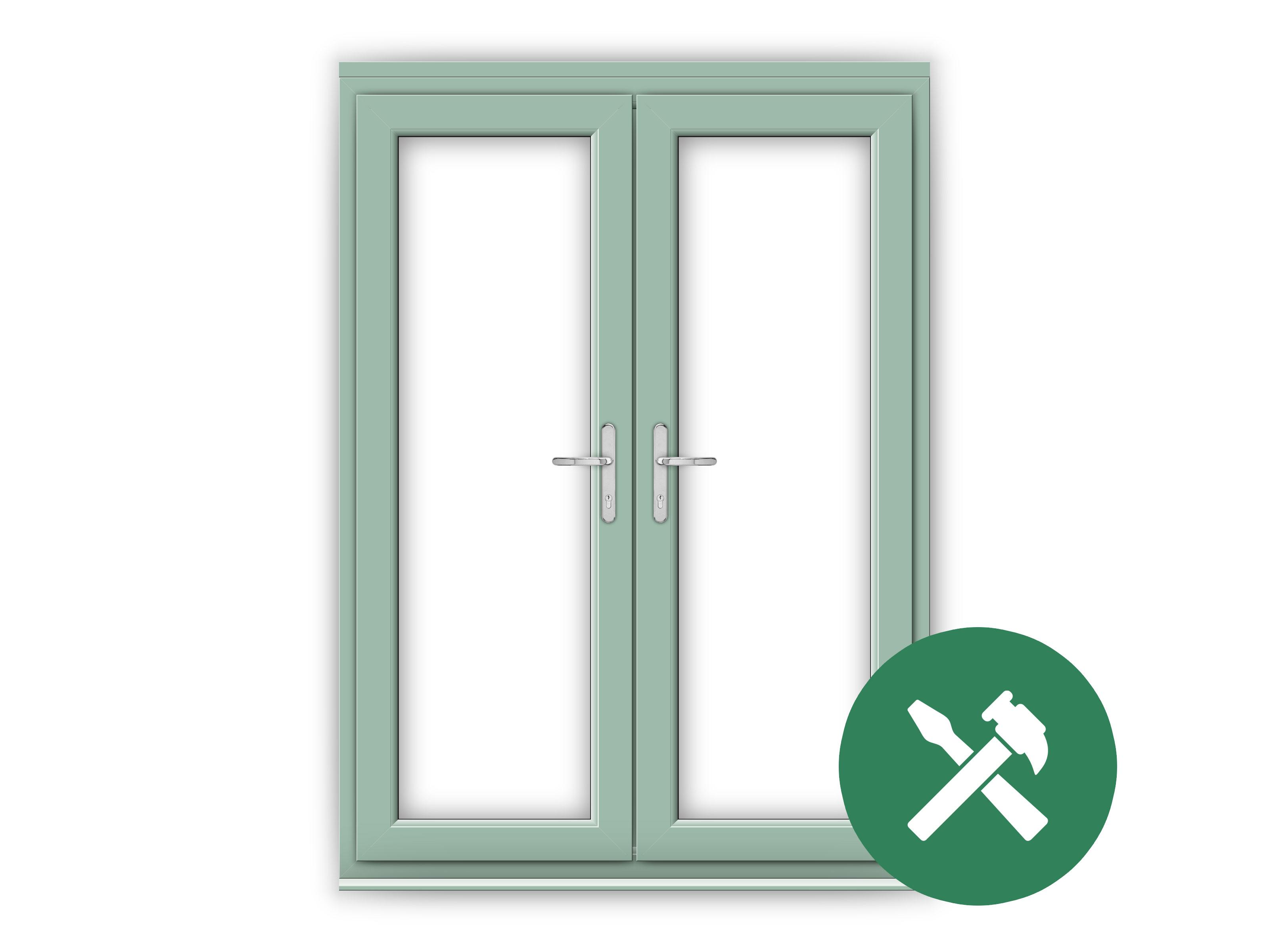 Custom Chartwell Green uPVC French Door Set