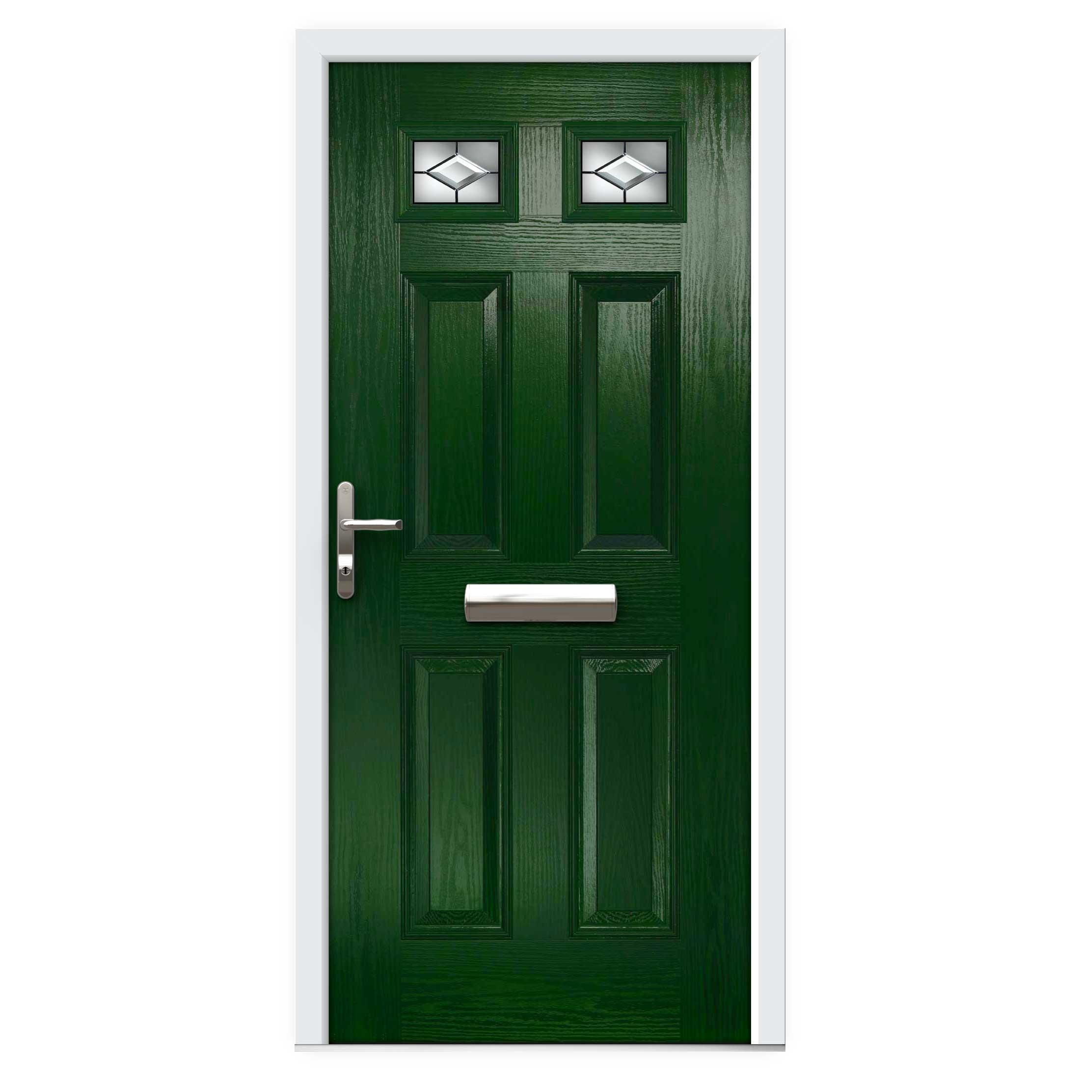 Green Top Lite Composite Front Door Flying Doors