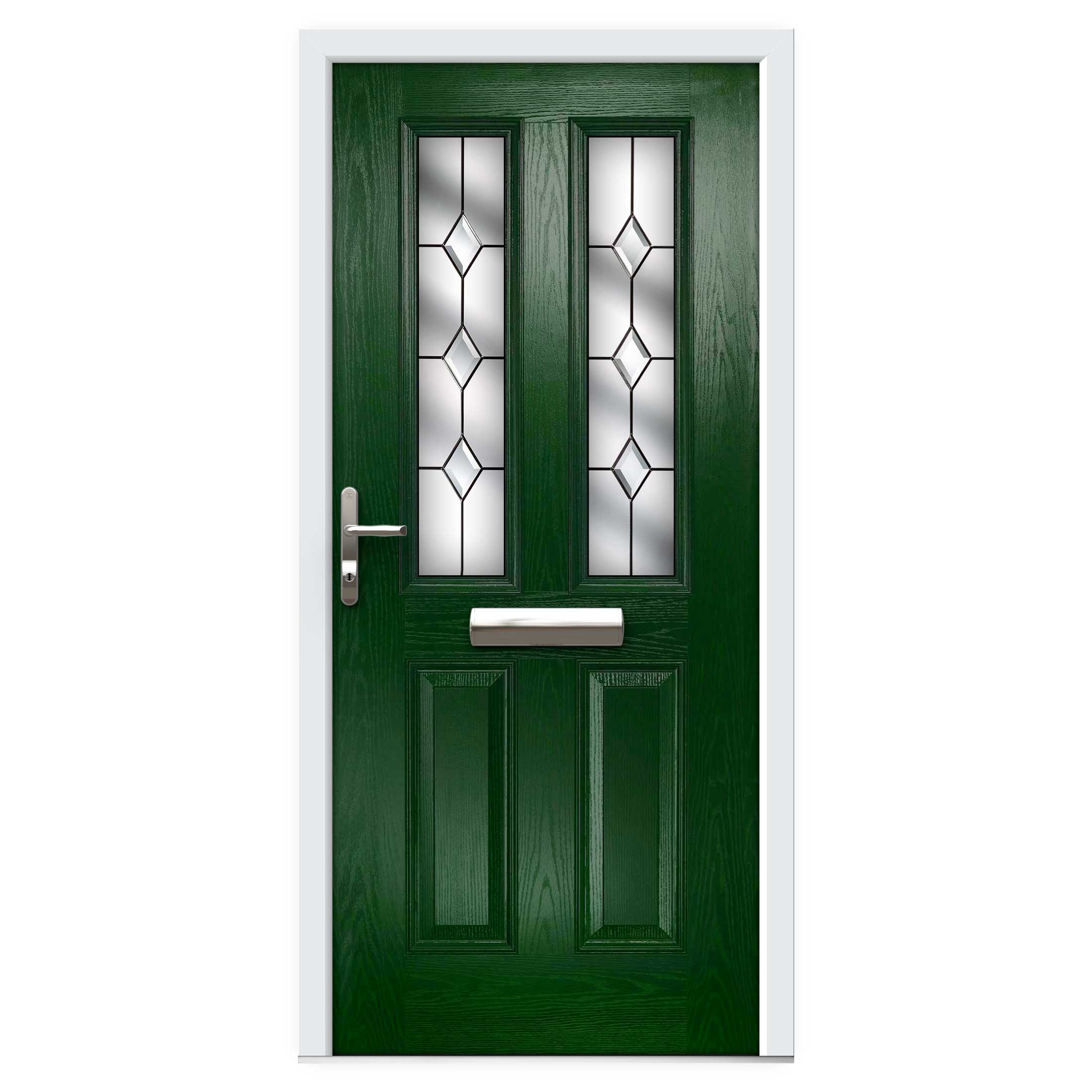 Narrow Lite Door : Green narrow lite composite front door flying doors