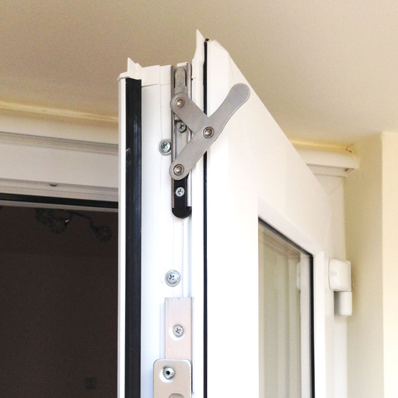 5ft uPVC Door Set with Chrome Handles | Flying Doors