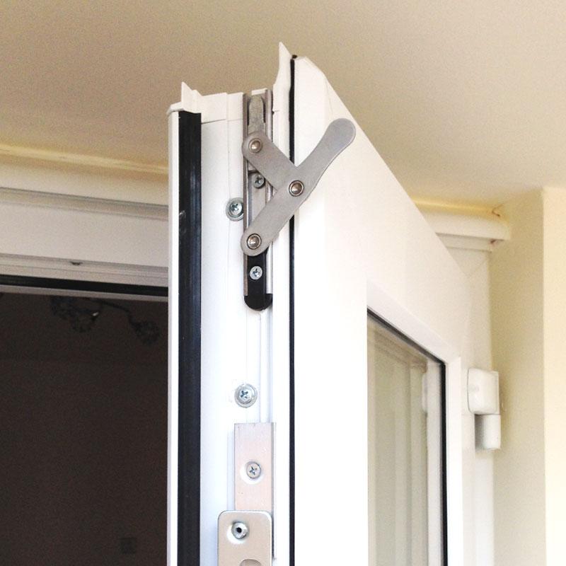 Upvc custom french door set 2933 flying doors for French doors exterior upvc made to measure