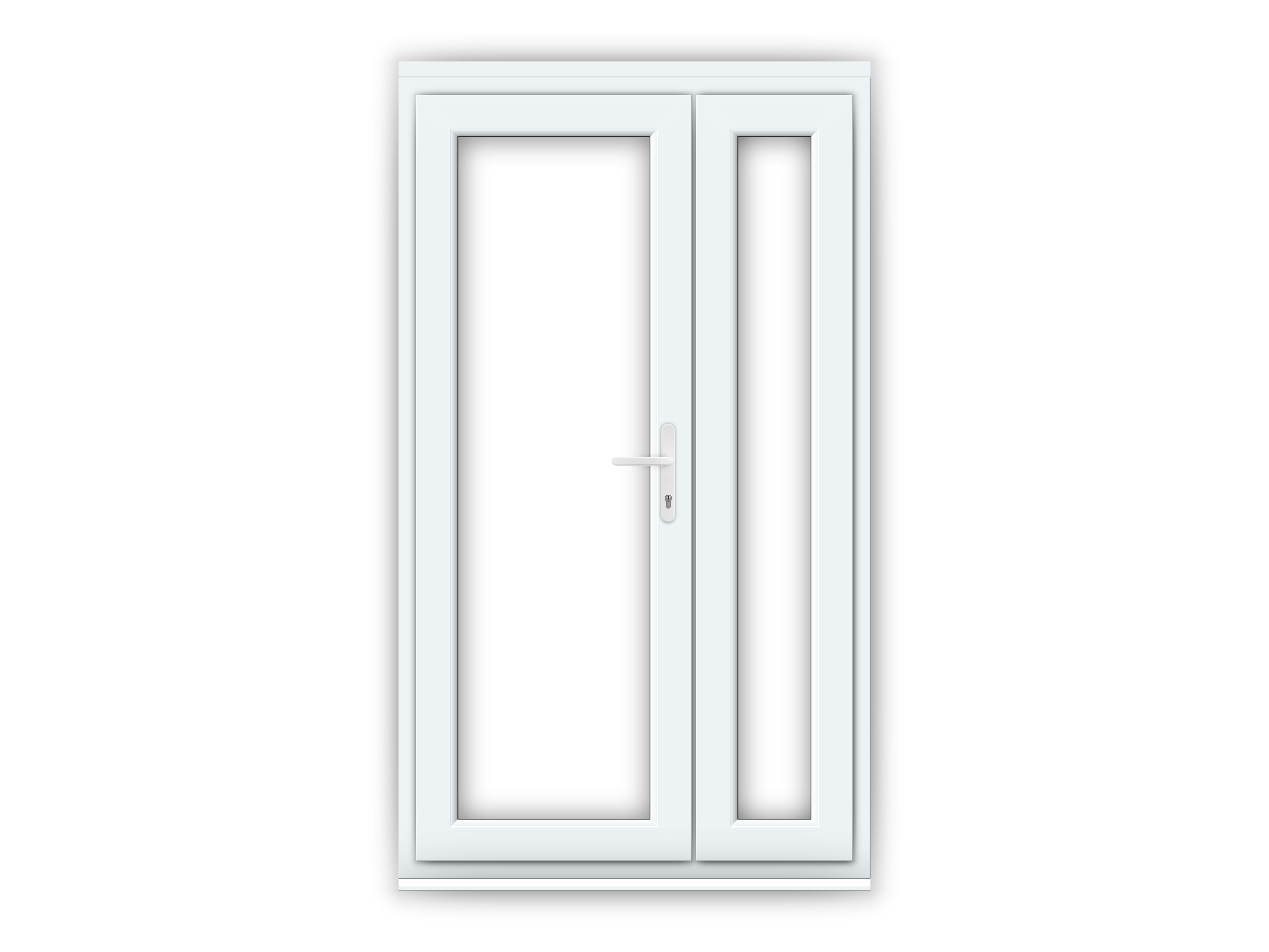LH uPVC Offset French Doors