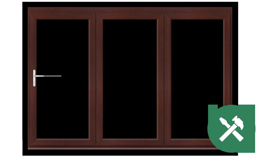 Custom Rosewood uPVC Bifold Door Set