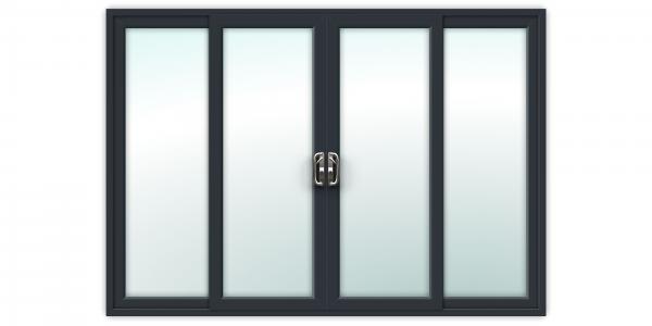 10ft Anthracite Grey uPVC Sliding Patio Doors