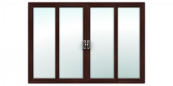 10ft Rosewood uPVC Sliding Patio Doors